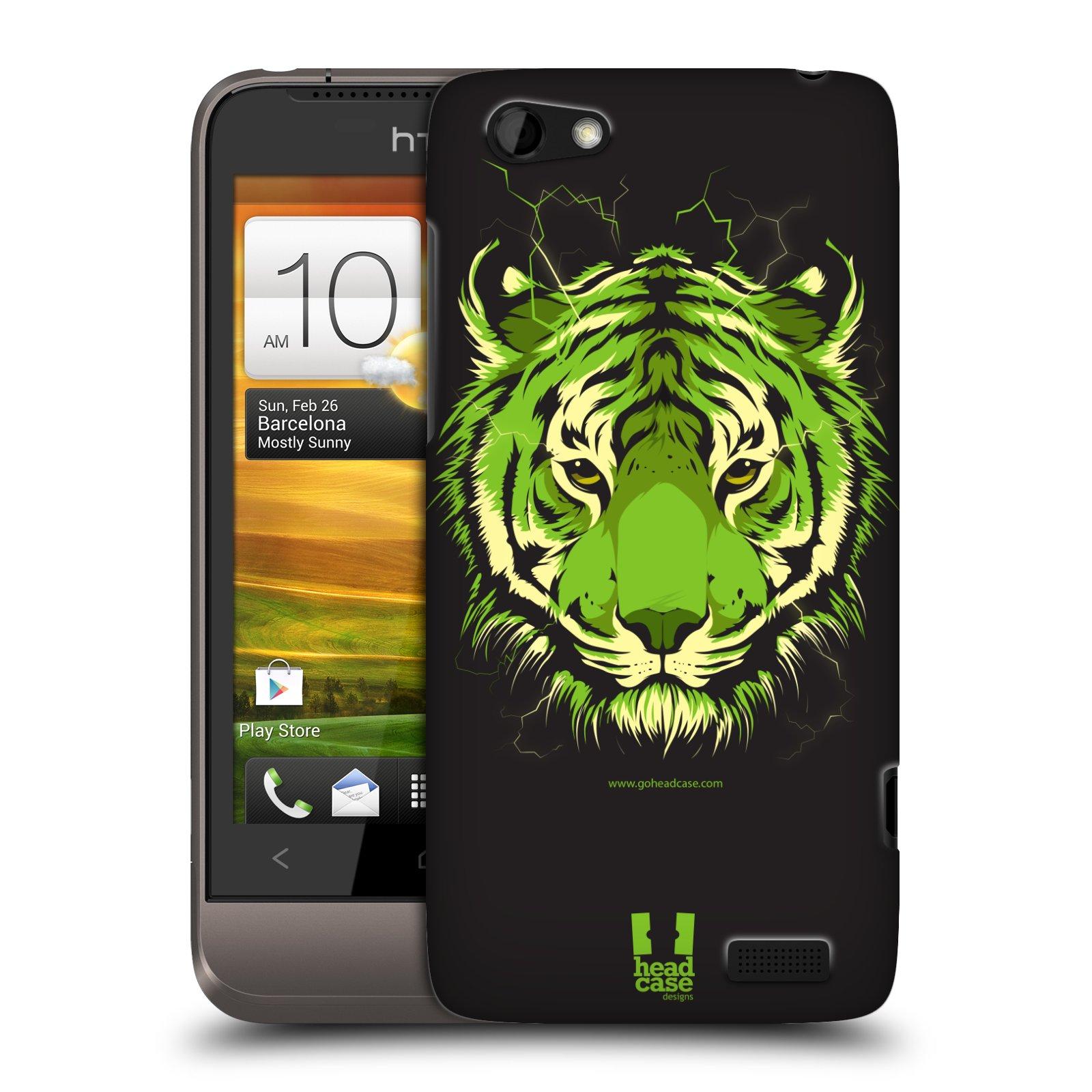 Plastové pouzdro na mobil HTC ONE V HEAD CASE BENGÁLSKÝ TYGR (Kryt či obal na mobilní telefon HTC ONE V)