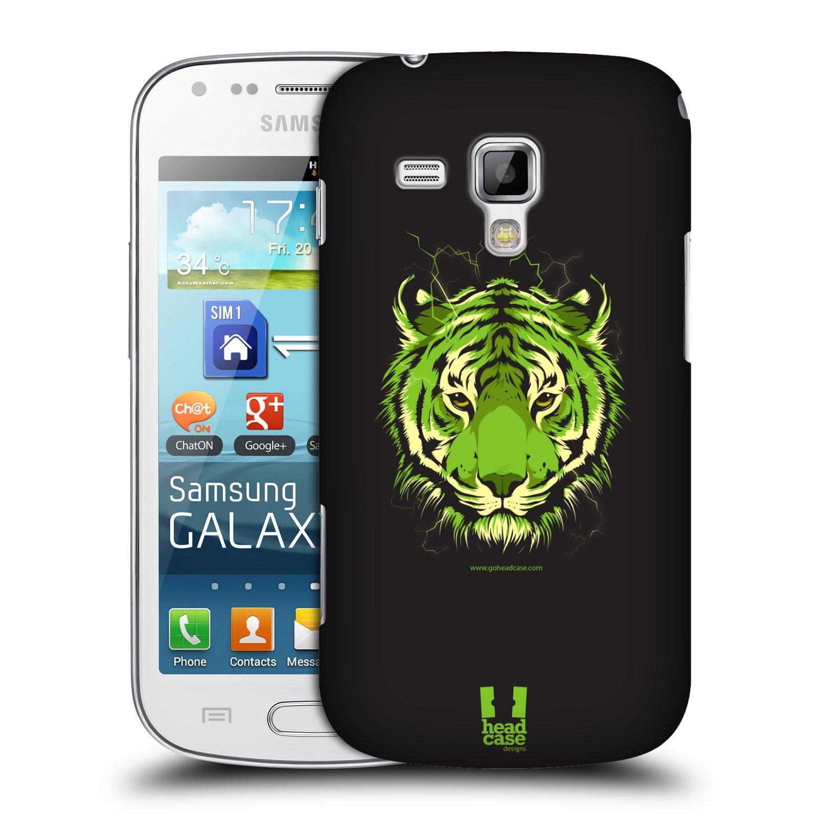 Plastové pouzdro na mobil Samsung Galaxy S Duos HEAD CASE BENGÁLSKÝ TYGR (Kryt či obal na mobilní telefon Samsung Galaxy S Duos GT-S7562)