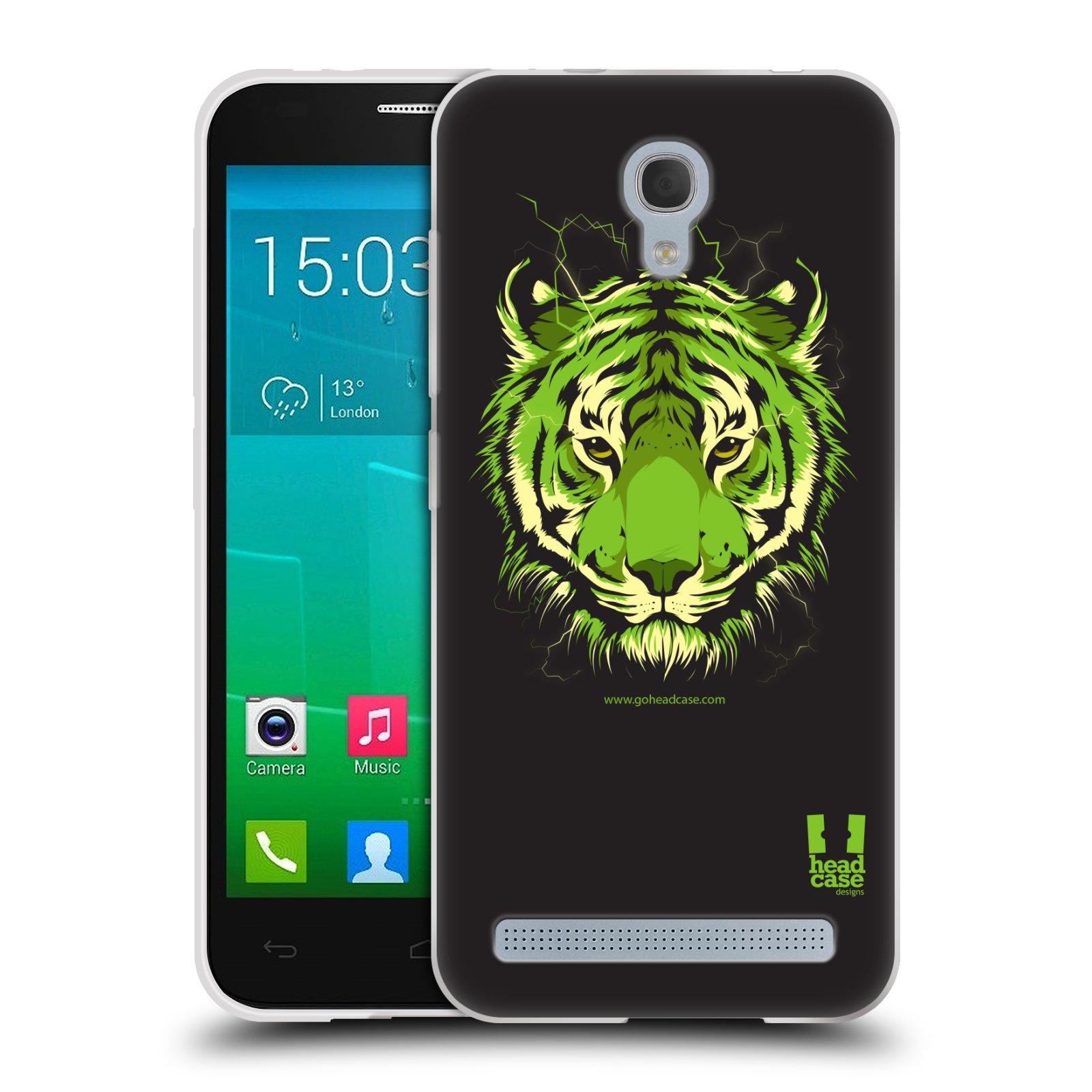 Silikonové pouzdro na mobil Alcatel One Touch Idol 2 Mini S 6036Y HEAD CASE BENGÁLSKÝ TYGR (Silikonový kryt či obal na mobilní telefon Alcatel Idol 2 Mini S OT-6036Y)
