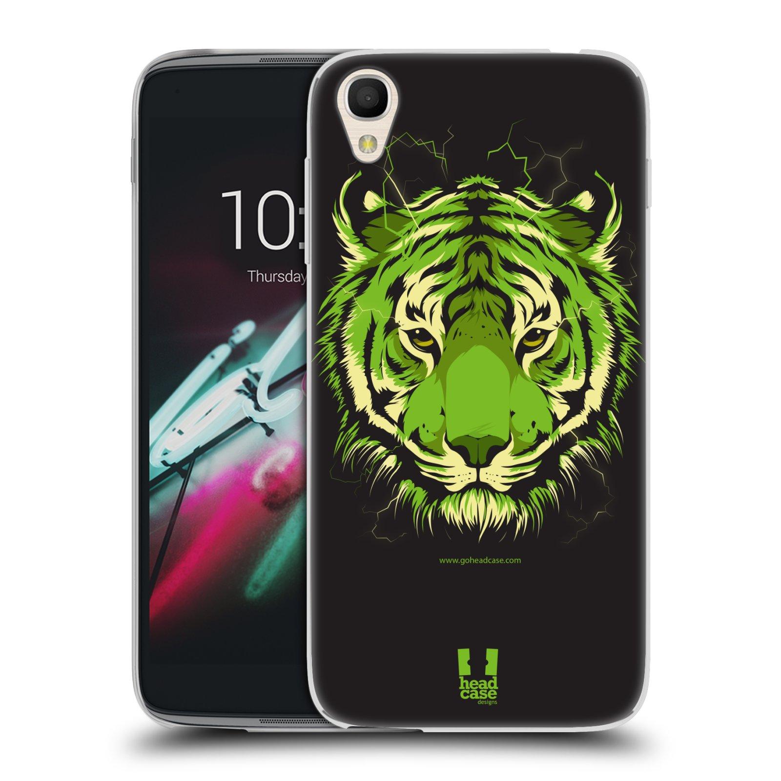"Silikonové pouzdro na mobil Alcatel One Touch 6039Y Idol 3 HEAD CASE BENGÁLSKÝ TYGR (Silikonový kryt či obal na mobilní telefon Alcatel One Touch Idol 3 OT-6039Y s 4,7"" displejem)"