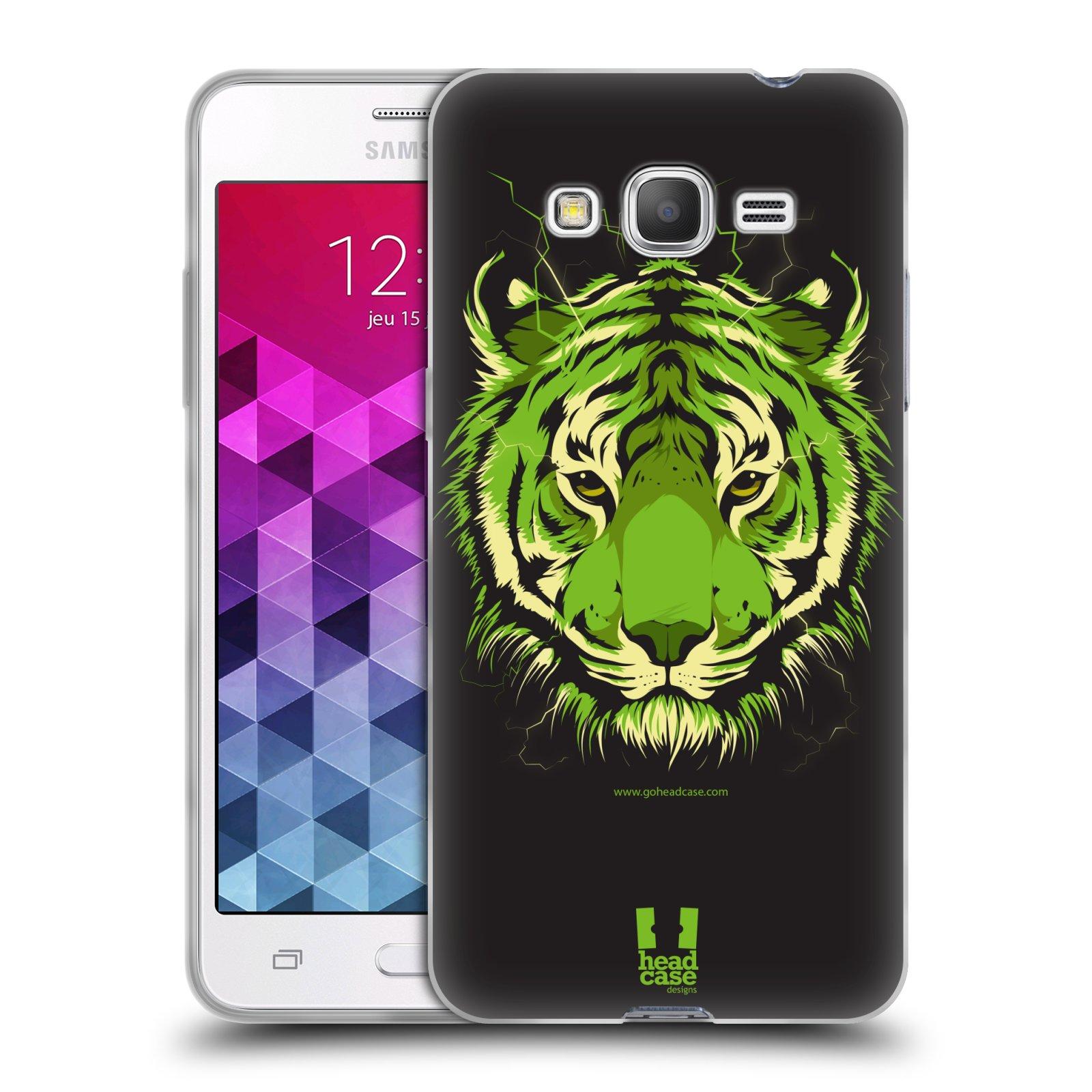 Silikonové pouzdro na mobil Samsung Galaxy Grand Prime HEAD CASE BENGÁLSKÝ TYGR
