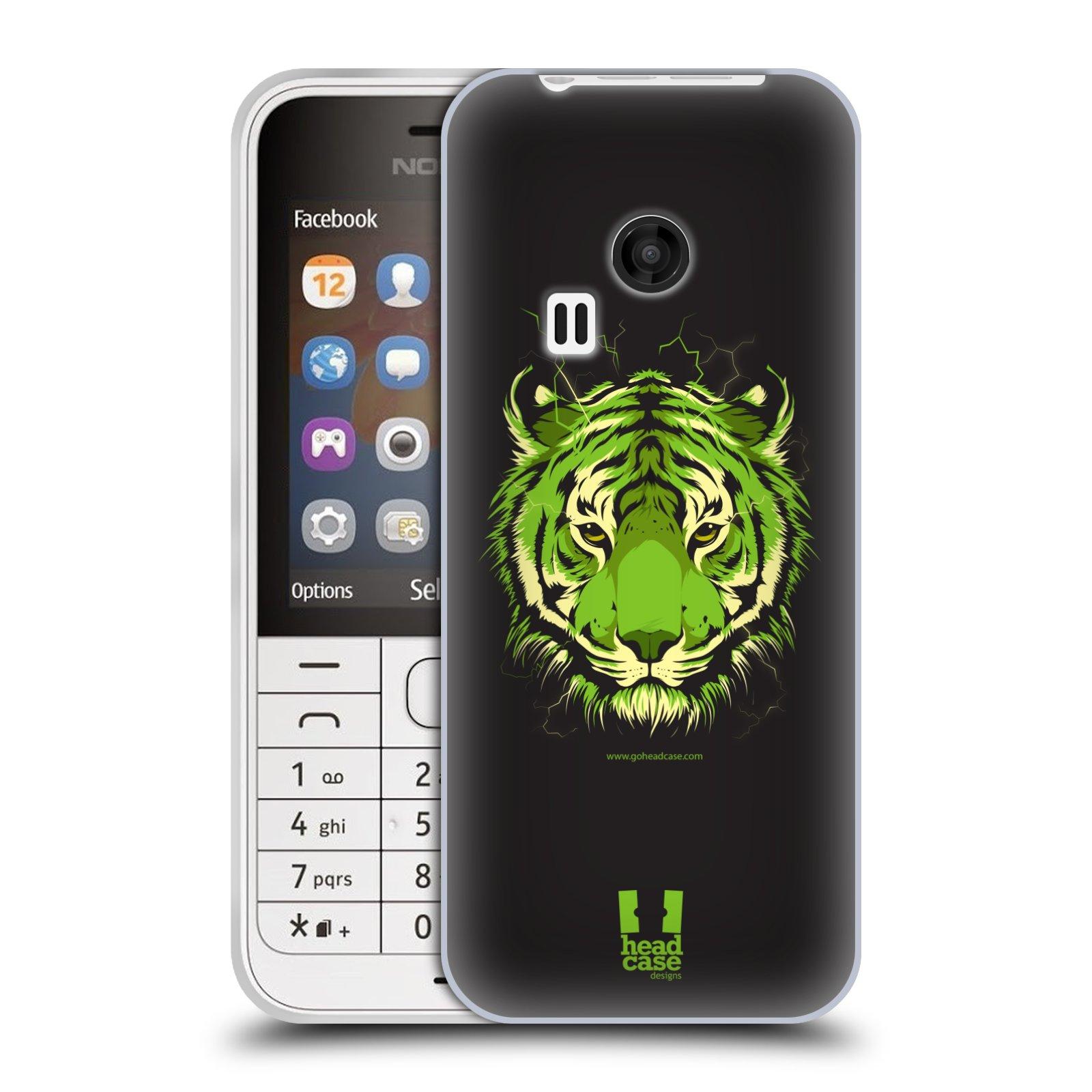 Silikonové pouzdro na mobil Nokia 220 HEAD CASE BENGÁLSKÝ TYGR (Silikonový kryt či obal na mobilní telefon Nokia 220 a 220 Dual SIM)