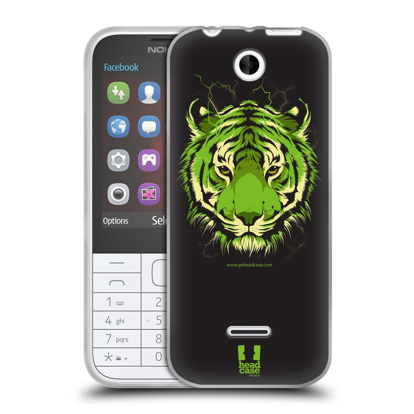 Silikonové pouzdro na mobil Nokia 225 HEAD CASE BENGÁLSKÝ TYGR (Silikonový kryt či obal na mobilní telefon Nokia 225)