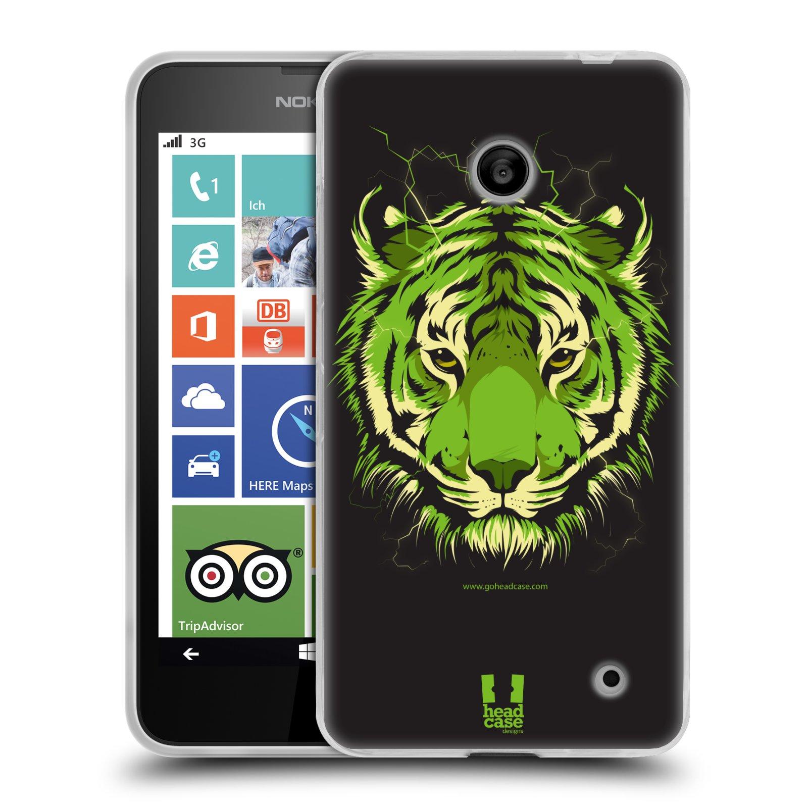 Silikonové pouzdro na mobil Nokia Lumia 630 HEAD CASE BENGÁLSKÝ TYGR (Silikonový kryt či obal na mobilní telefon Nokia Lumia 630 a Nokia Lumia 630 Dual SIM)