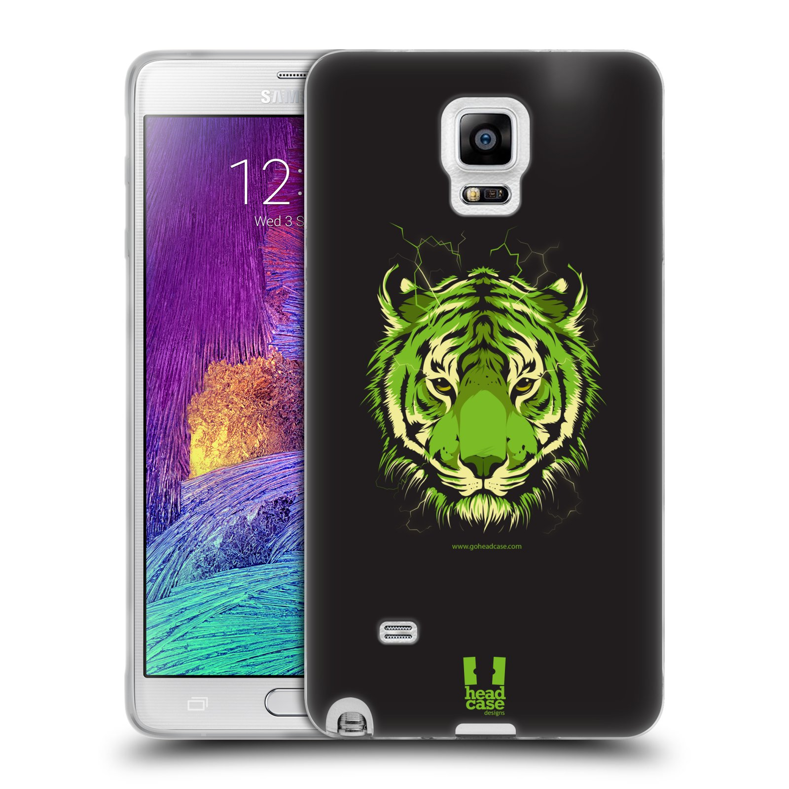 Silikonové pouzdro na mobil Samsung Galaxy Note 4 HEAD CASE BENGÁLSKÝ TYGR (Silikonový kryt či obal na mobilní telefon Samsung Galaxy Note 4 SM-N910F)