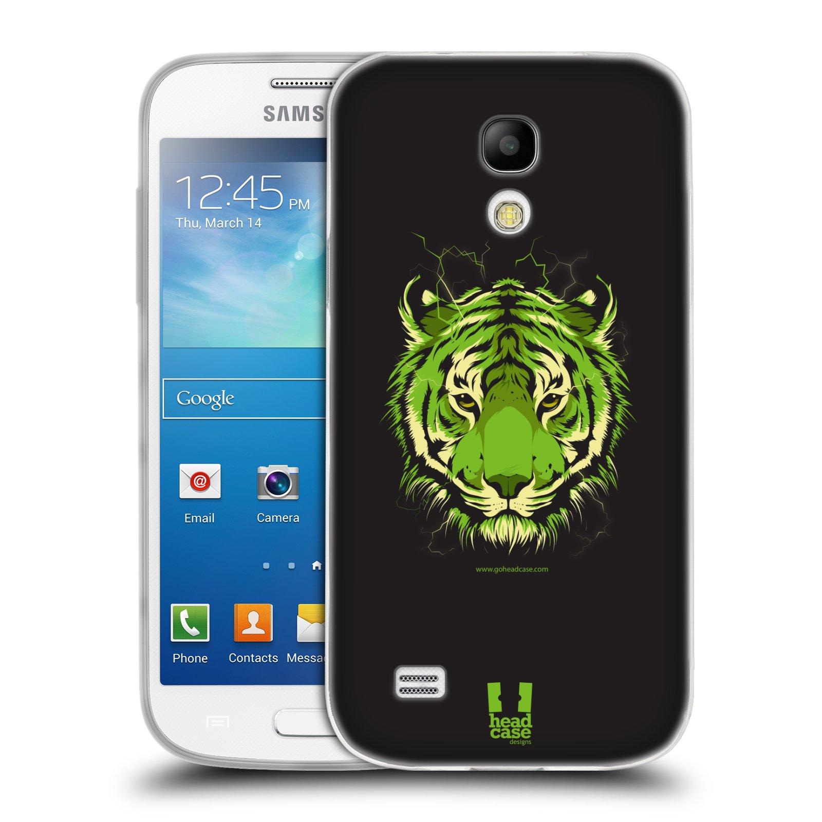Silikonové pouzdro na mobil Samsung Galaxy S4 Mini HEAD CASE BENGÁLSKÝ TYGR (Silikonový kryt či obal na mobilní telefon Samsung Galaxy S4 Mini GT-i9195 / i9190 (nepasuje na verzi Black Edition))
