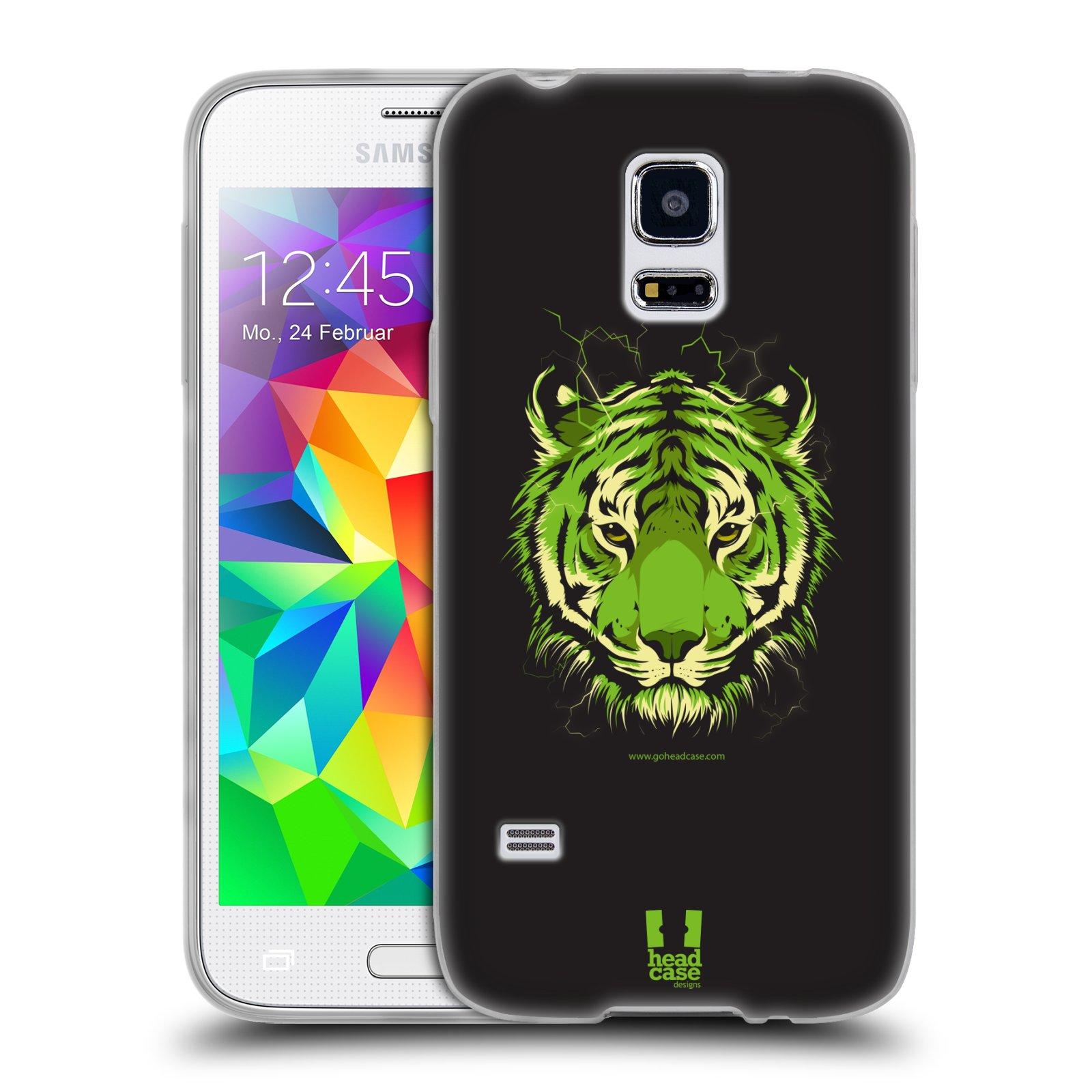 Silikonové pouzdro na mobil Samsung Galaxy S5 Mini HEAD CASE BENGÁLSKÝ TYGR (Silikonový kryt či obal na mobilní telefon Samsung Galaxy S5 Mini SM-G800F)