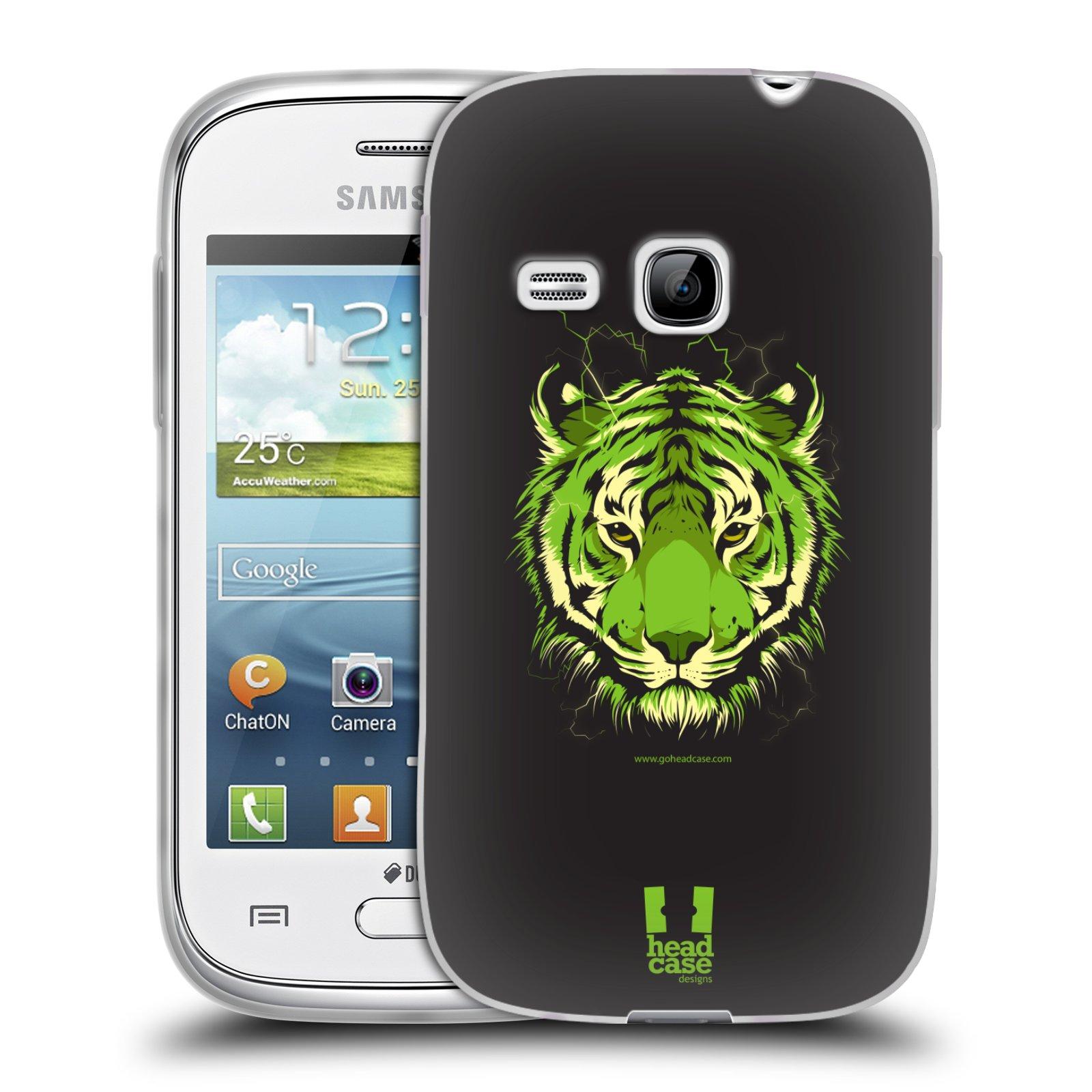 Silikonové pouzdro na mobil Samsung Galaxy Young HEAD CASE BENGÁLSKÝ TYGR (Silikonový kryt či obal na mobilní telefon Samsung Galaxy Young GT-S6310)