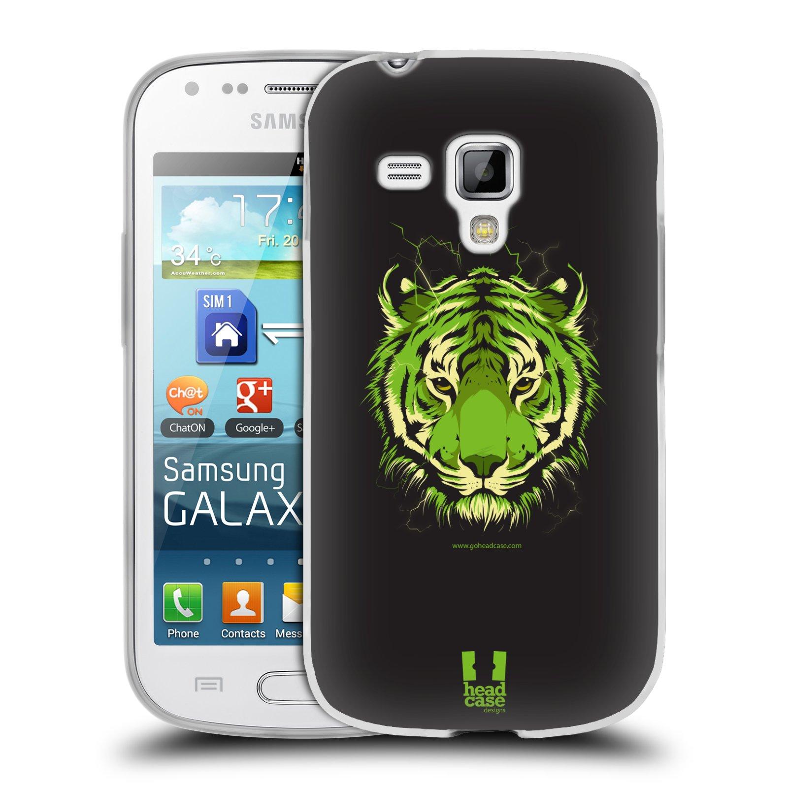 Silikonové pouzdro na mobil Samsung Galaxy Trend HEAD CASE BENGÁLSKÝ TYGR (Silikonový kryt či obal na mobilní telefon Samsung Galaxy Trend GT-S7560)
