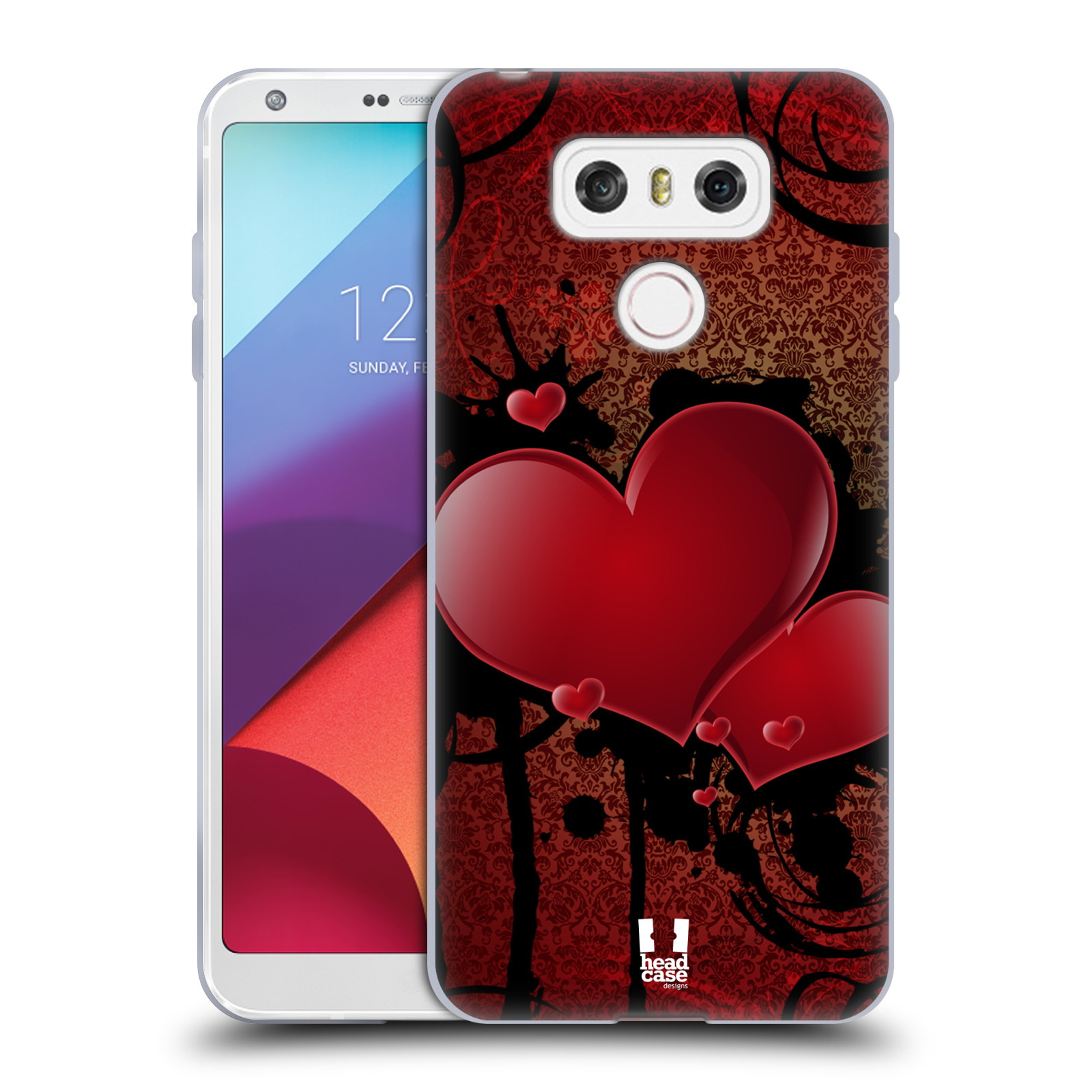 Silikonové pouzdro na mobil LG G6 - Head Case SRDÍČKA GRUNGE (Silikonový kryt či obal na mobilní telefon LG G6 H870 / LG G6 Dual SIM H870DS)