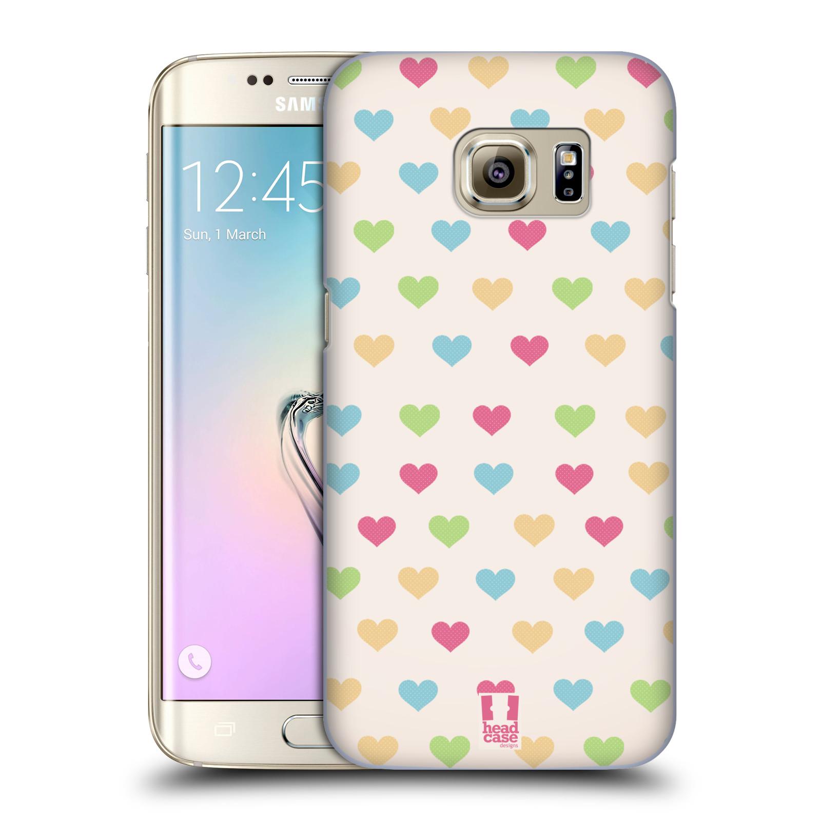 Plastové pouzdro na mobil Samsung Galaxy S7 Edge HEAD CASE SRDÍČKA BAREVNÁ (Kryt či obal na mobilní telefon Samsung Galaxy S7 Edge SM-G935F)
