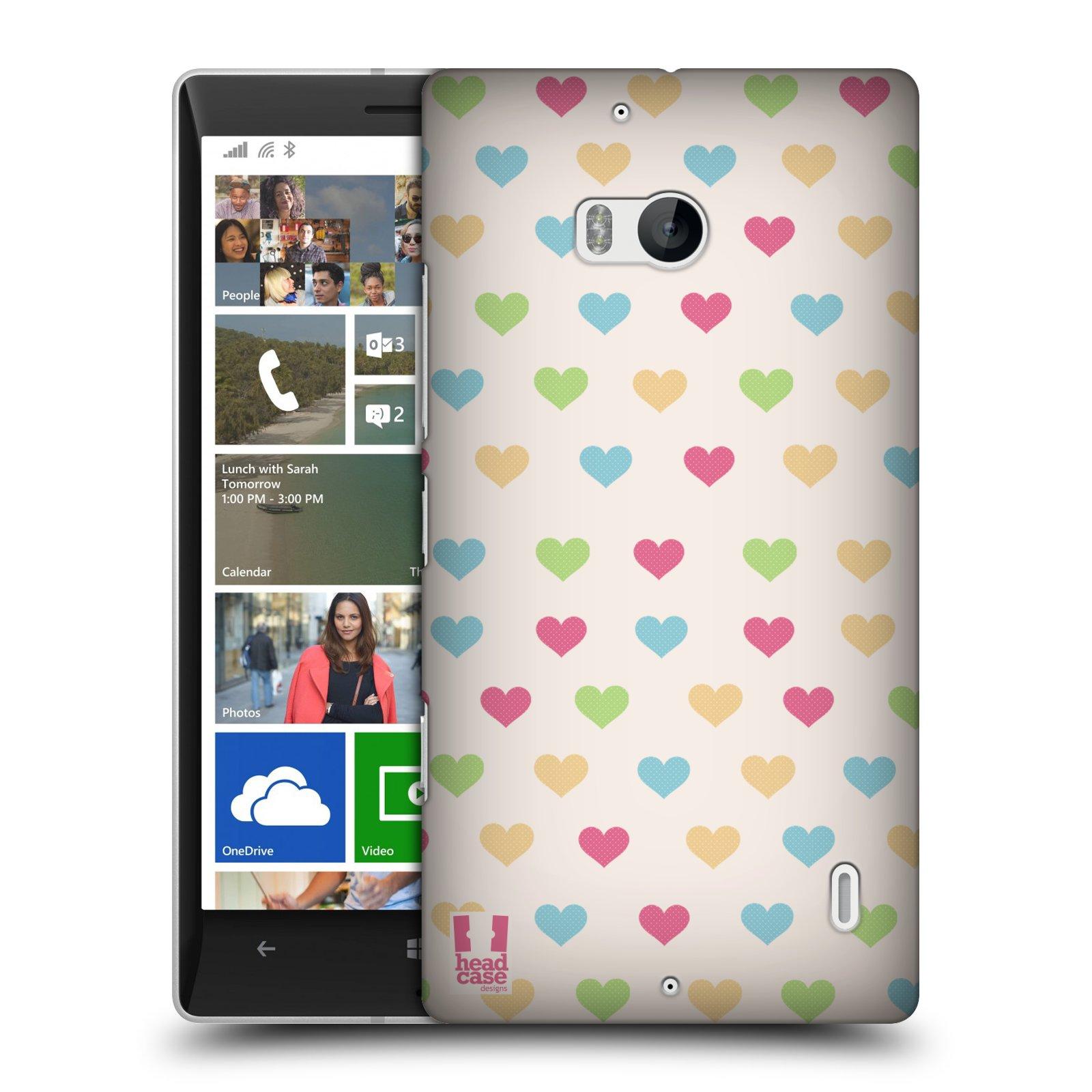 Plastové pouzdro na mobil Nokia Lumia 930 HEAD CASE SRDÍČKA BAREVNÁ