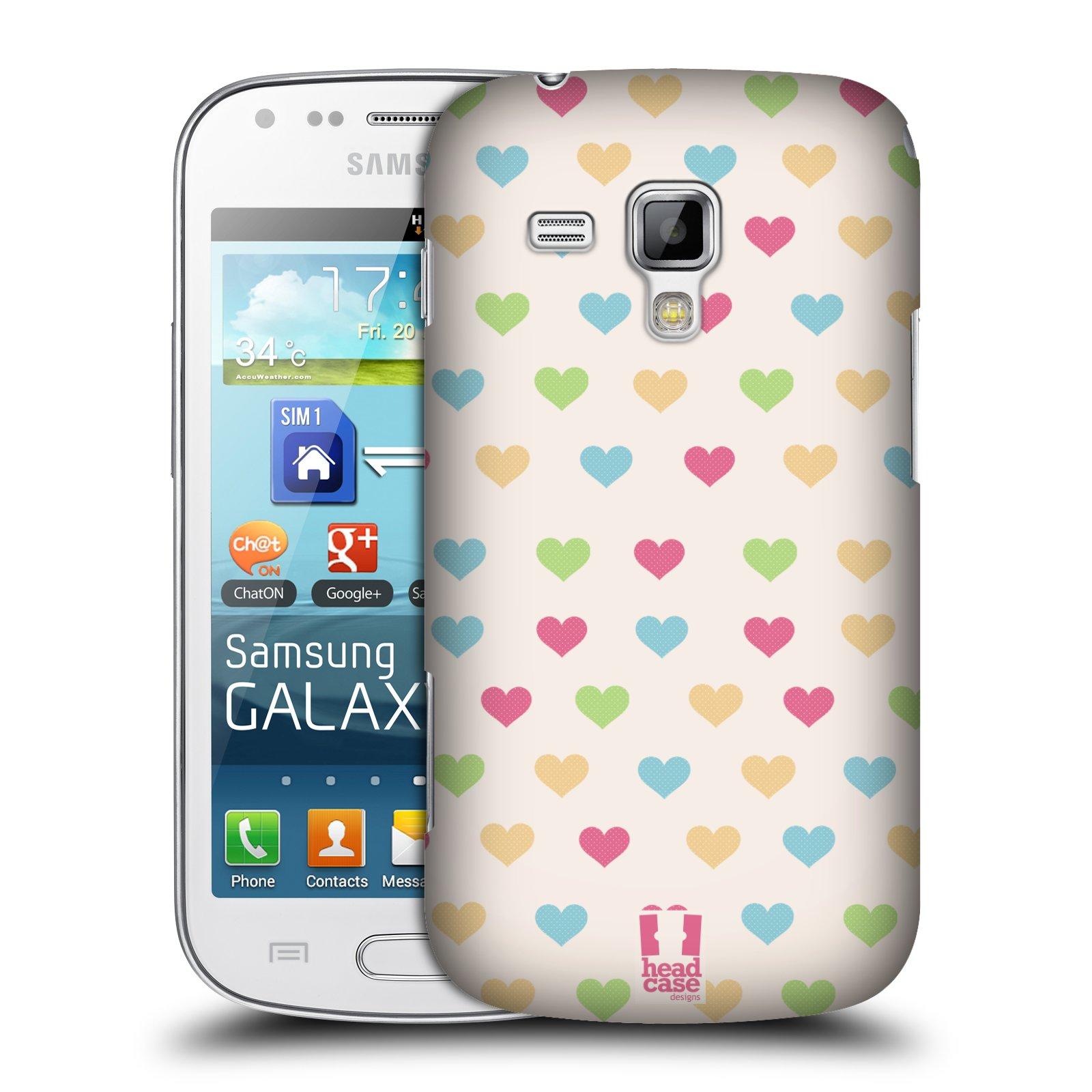 Plastové pouzdro na mobil Samsung Galaxy S Duos 2 HEAD CASE SRDÍČKA BAREVNÁ