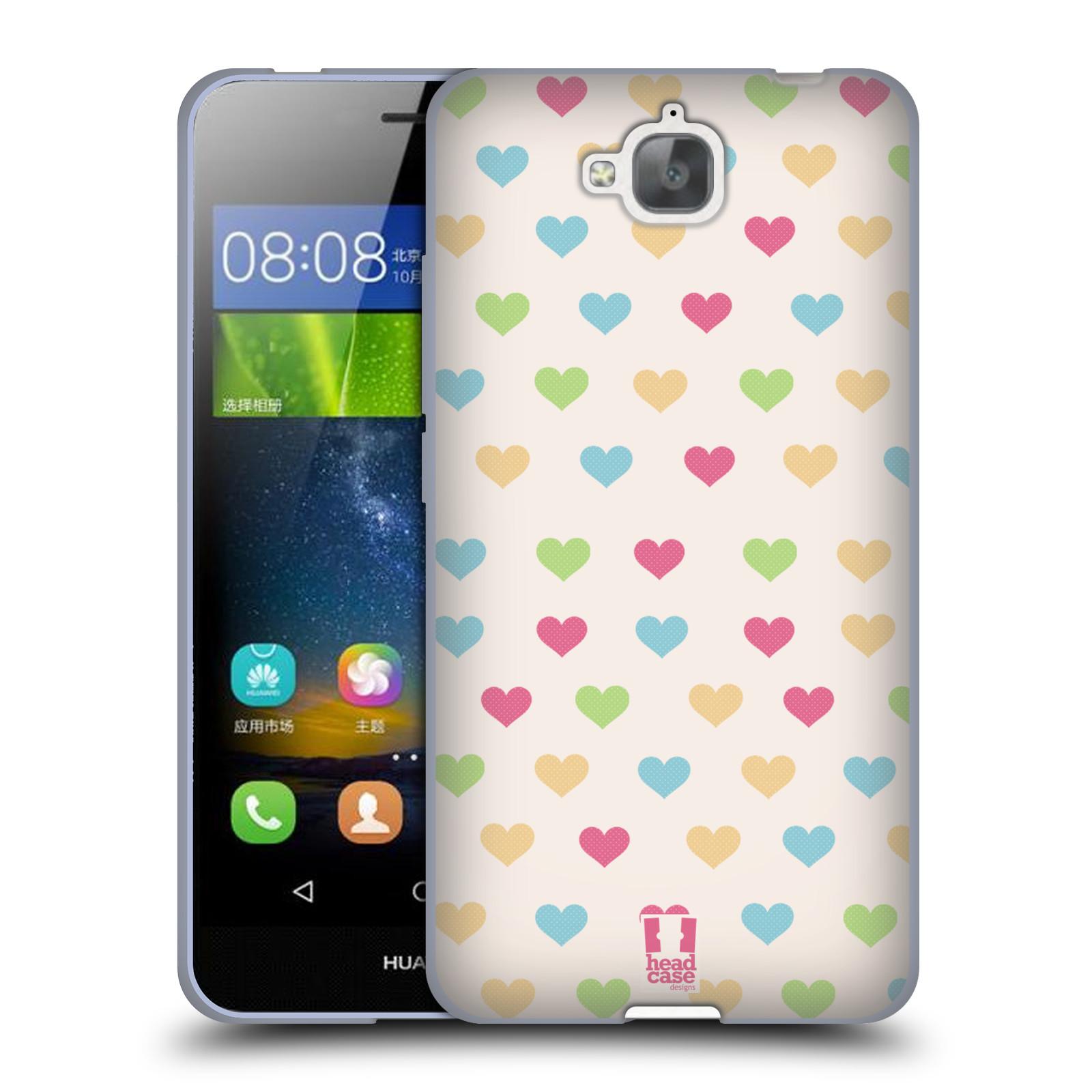 835327aef Silikonové pouzdro na mobil Huawei Y6 Pro Dual Sim HEAD CASE SRDÍČKA BAREVNÁ