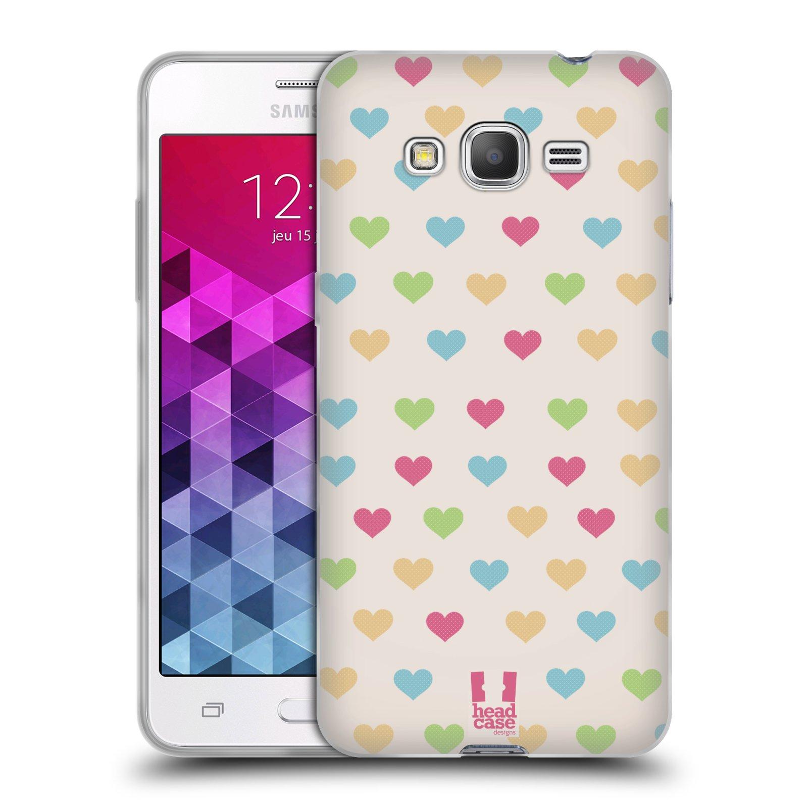 Silikonové pouzdro na mobil Samsung Galaxy Grand Prime VE HEAD CASE SRDÍČKA BAREVNÁ
