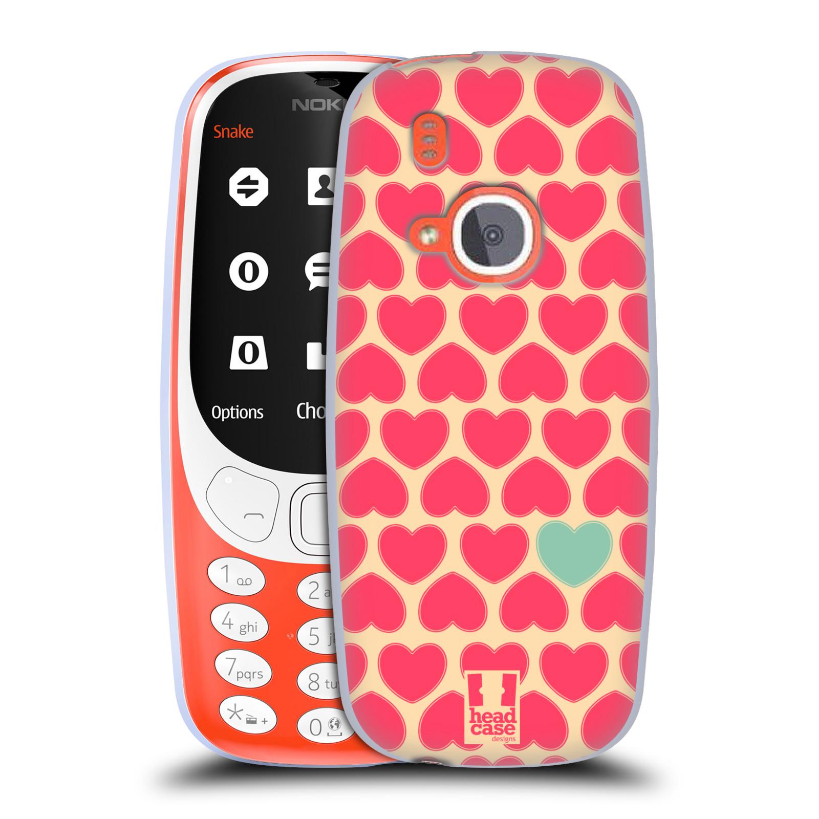 Silikonové pouzdro na mobil Nokia 3310 - Head Case - SRDÍČKA RŮŽOVÁ (Silikonový kryt či obal na mobilní telefon Nokia 3310 (2017) s motivem SRDÍČKA RŮŽOVÁ)