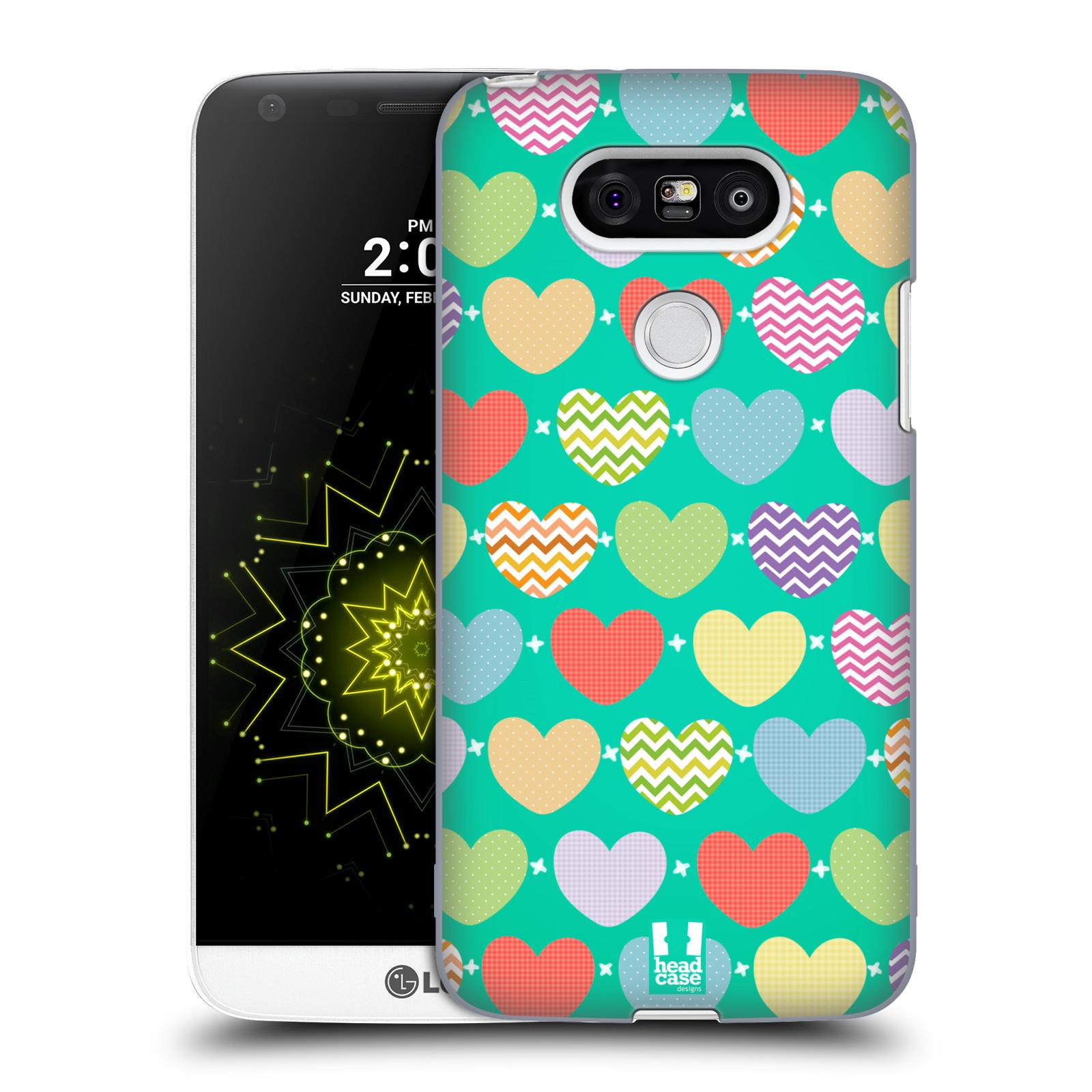 Plastové pouzdro na mobil LG G5 HEAD CASE SRDÍČKA NA ZELENÉ (Kryt či obal na mobilní telefon LG G5 H850)