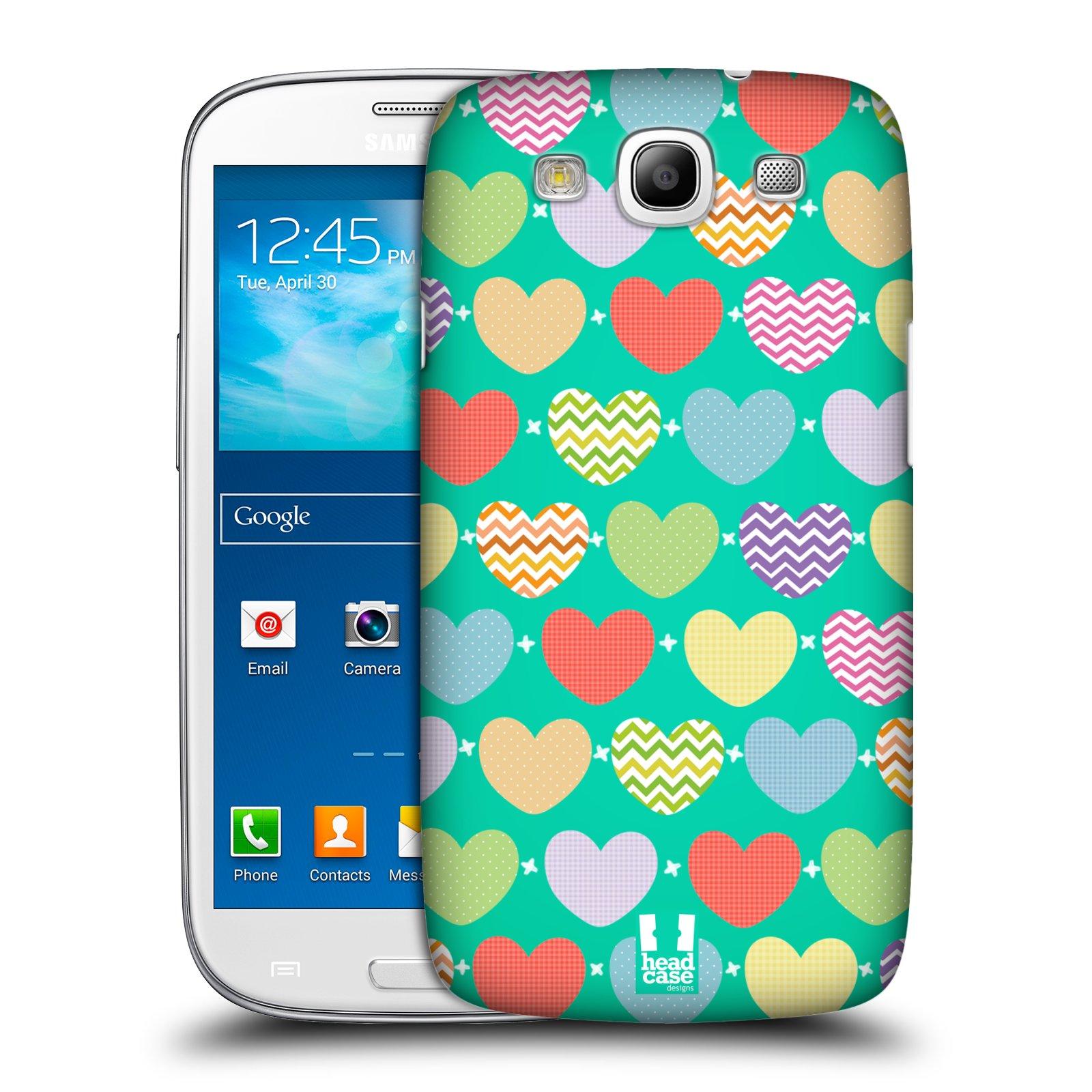 Plastové pouzdro na mobil Samsung Galaxy S3 Neo HEAD CASE SRDÍČKA NA ZELENÉ (Kryt či obal na mobilní telefon Samsung Galaxy S3 Neo GT-i9301i)