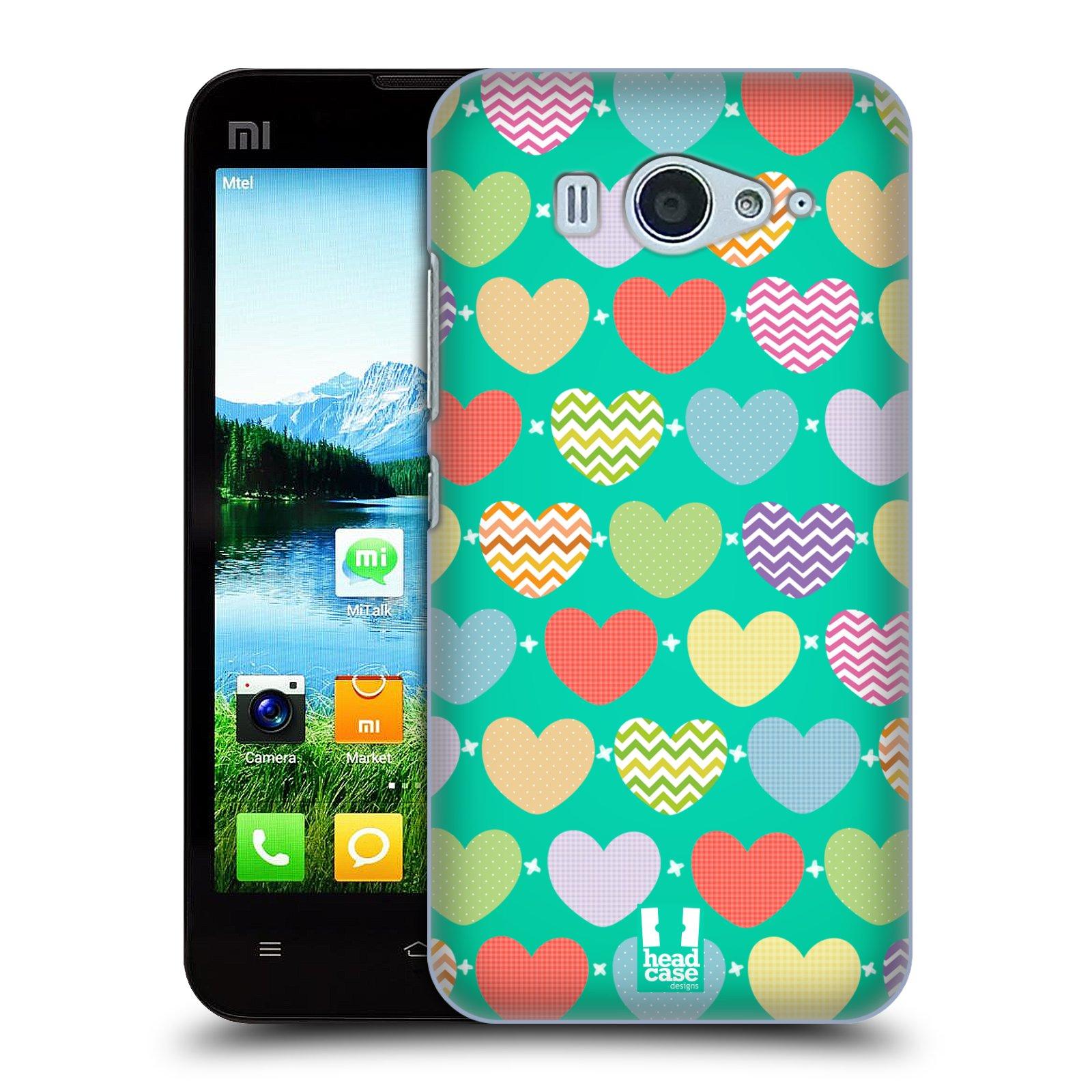 Plastové pouzdro na mobil Xiaomi Mi2S HEAD CASE SRDÍČKA NA ZELENÉ (Kryt či obal na mobilní telefon Xiaomi Mi2S)
