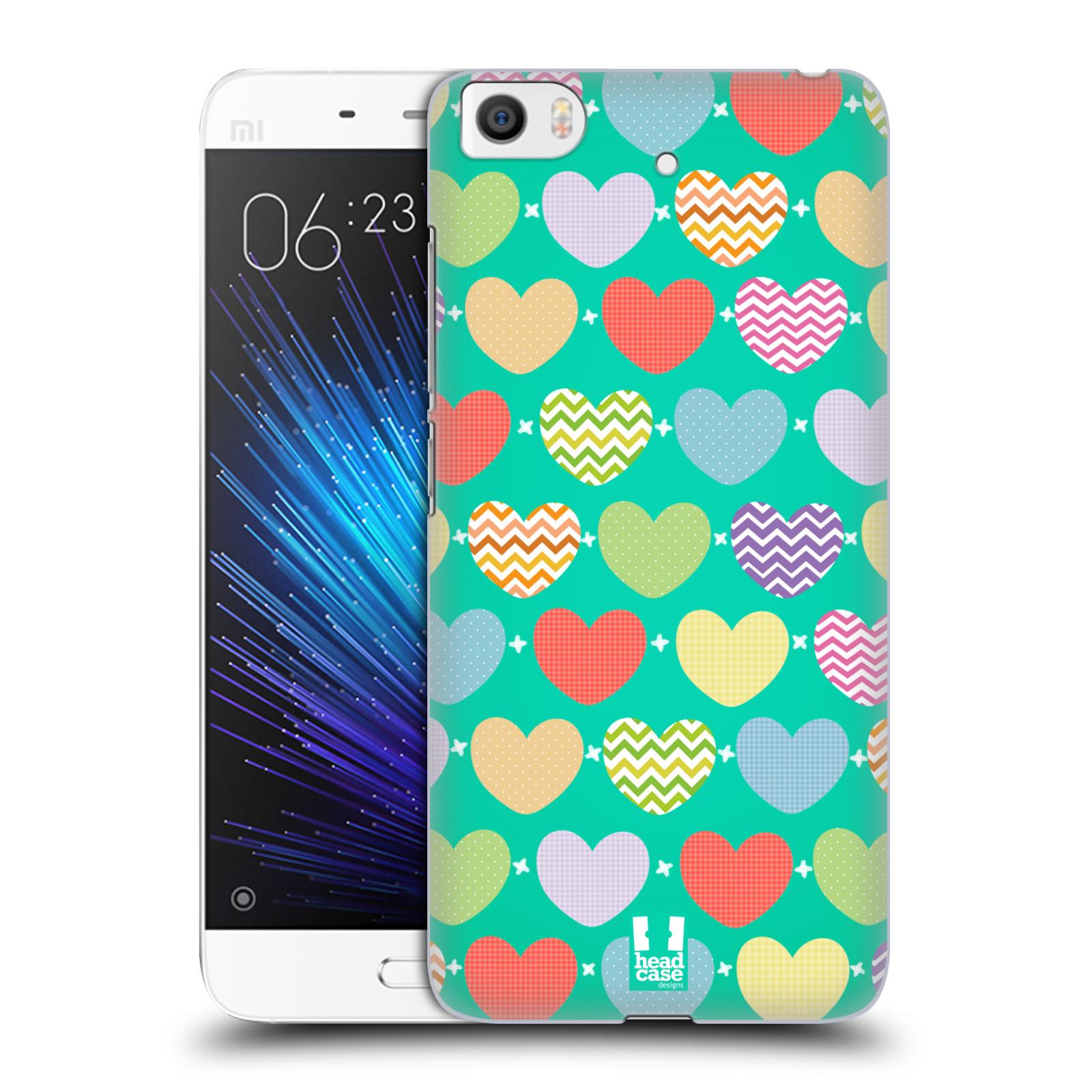 Plastové pouzdro na mobil Xiaomi Mi5s - Head Case SRDÍČKA NA ZELENÉ (Plastový kryt či obal na mobilní telefon Xiaomi Mi5s)