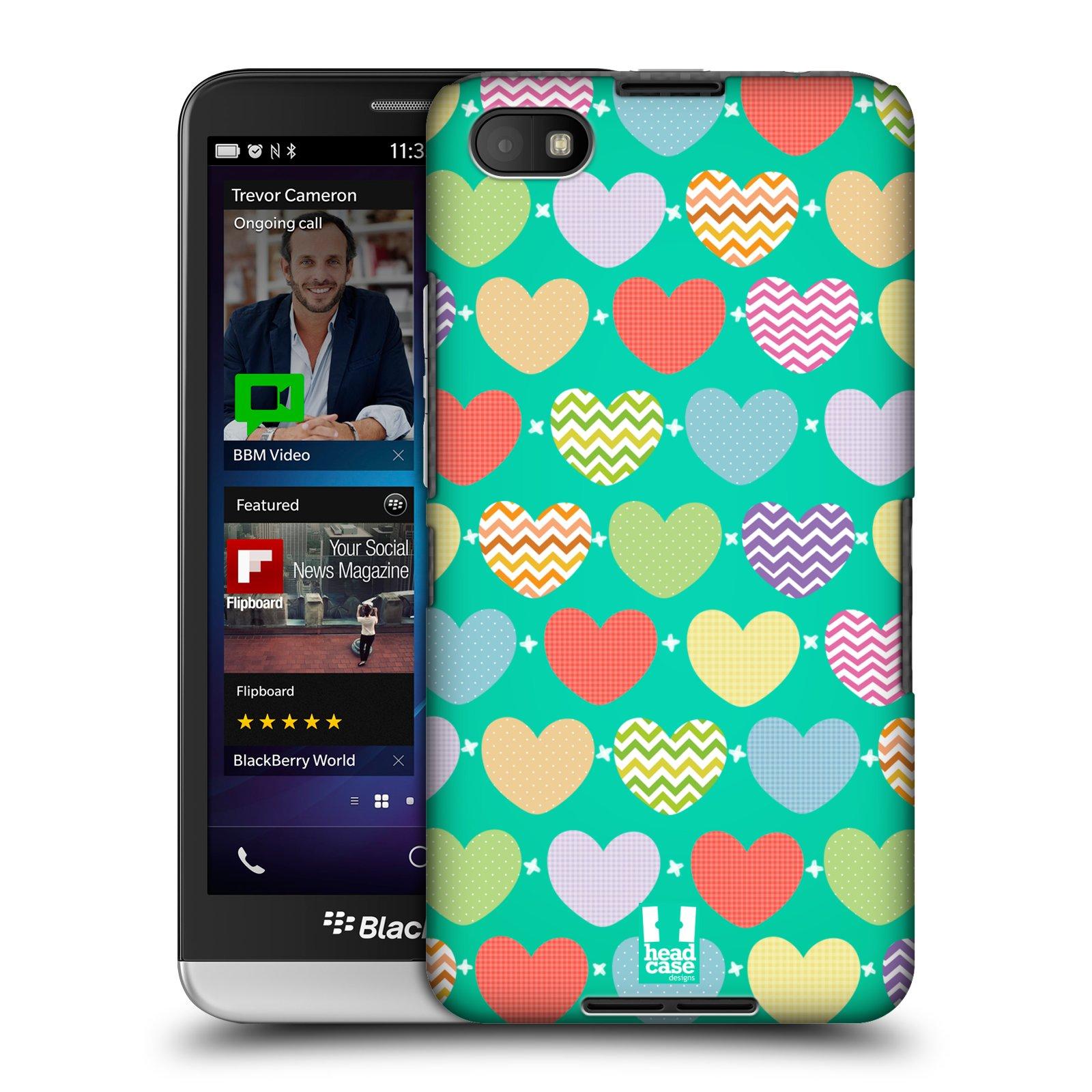 Plastové pouzdro na mobil Blackberry Z30 HEAD CASE SRDÍČKA NA ZELENÉ (Kryt či obal na mobilní telefon Blackberry Z30)