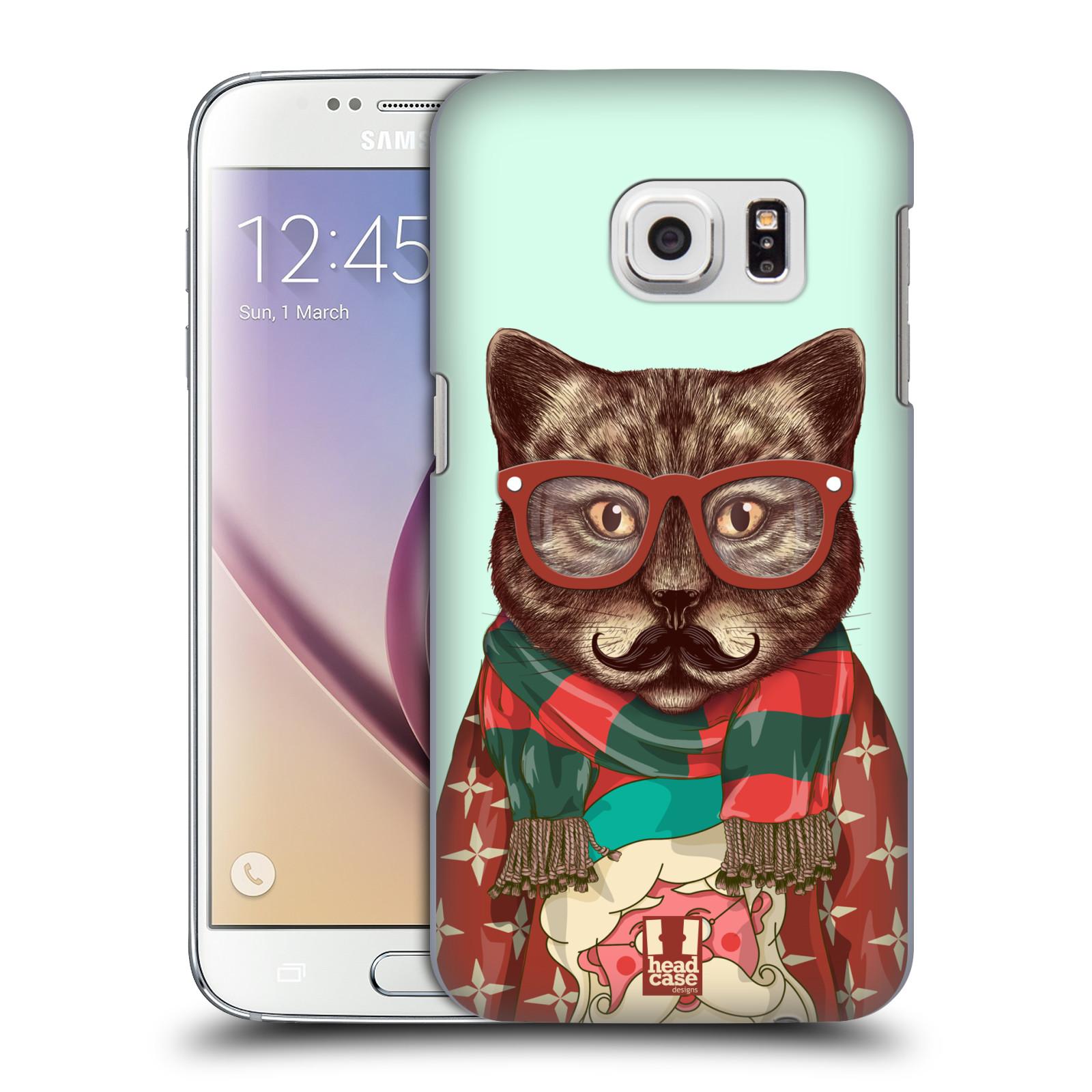 Plastové pouzdro na mobil Samsung Galaxy S7 HEAD CASE HIPSTR SVETR KOČKA (Kryt či obal na mobilní telefon Samsung Galaxy S7 SM-G930F)