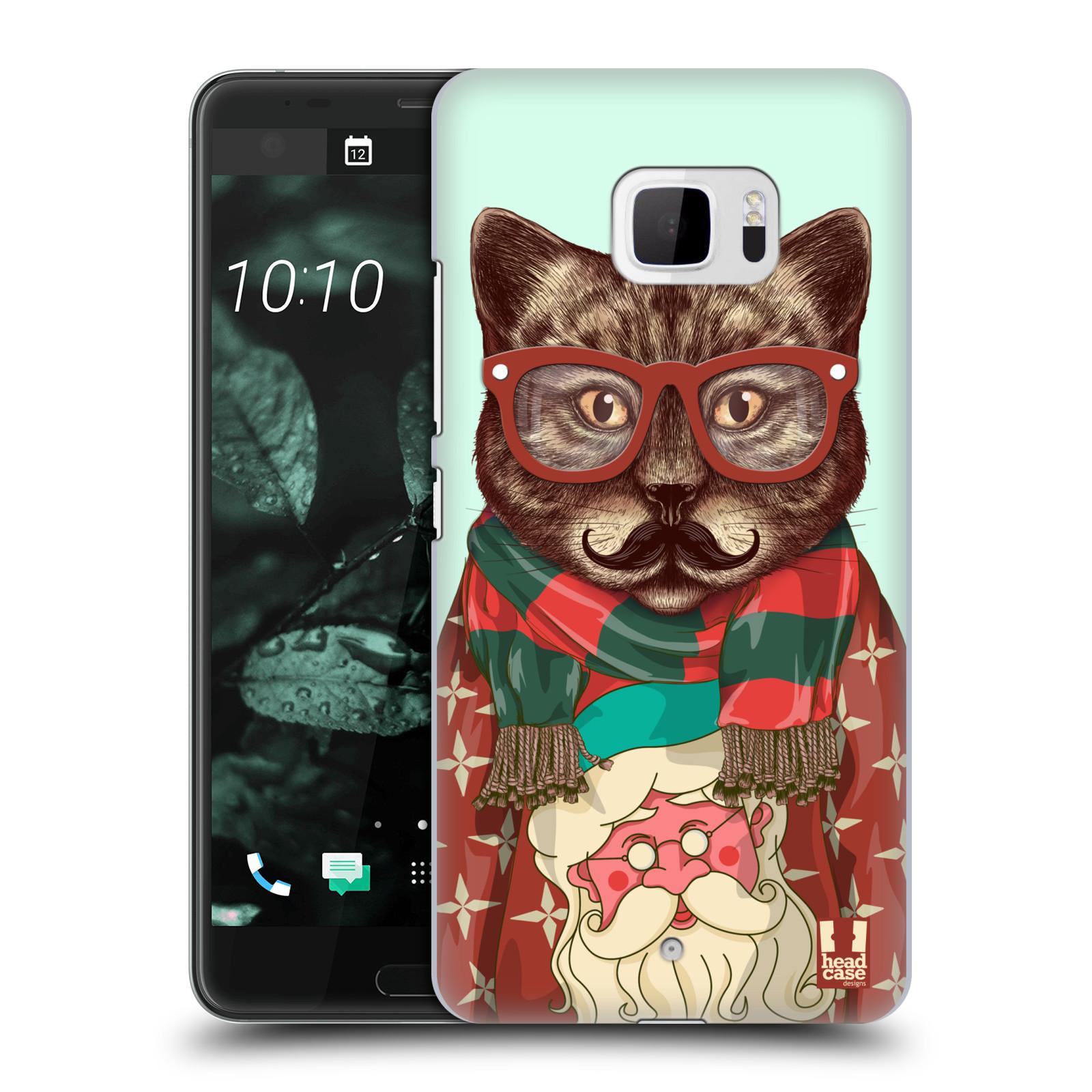 Plastové pouzdro na mobil HTC U Ultra Head Case - HIPSTR SVETR KOČKA (Plastový kryt či obal na mobilní telefon HTC U Ultra (99HALT015-00))