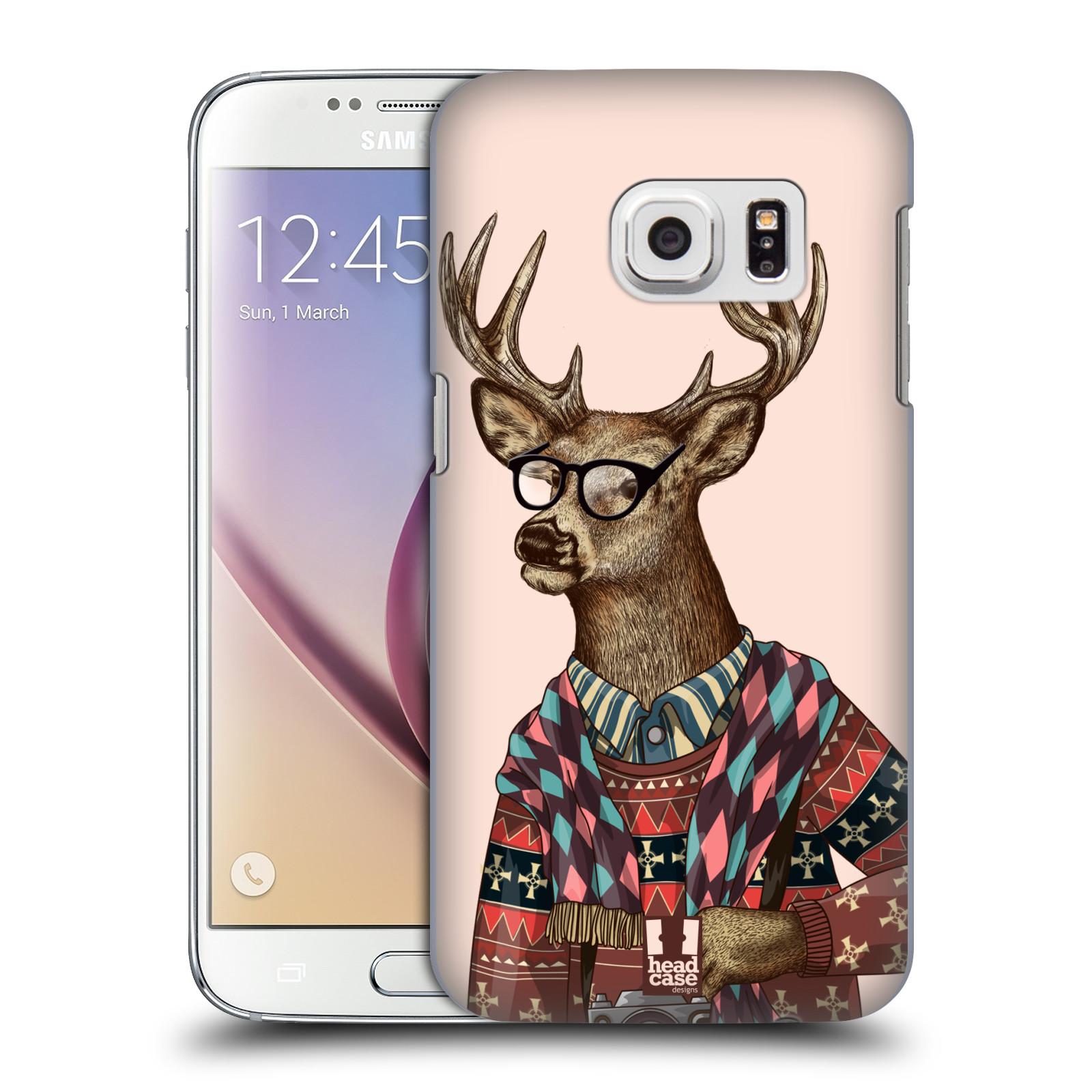 Plastové pouzdro na mobil Samsung Galaxy S7 HEAD CASE HIPSTR SVETR JELEN (Kryt či obal na mobilní telefon Samsung Galaxy S7 SM-G930F)