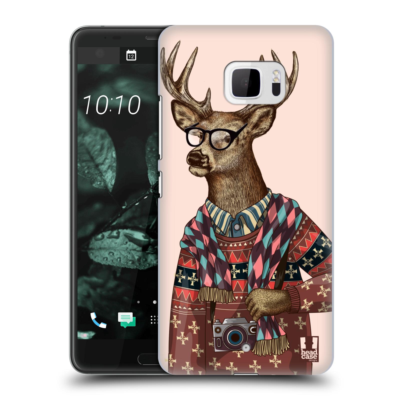 Plastové pouzdro na mobil HTC U Ultra Head Case - HIPSTR SVETR JELEN (Plastový kryt či obal na mobilní telefon HTC U Ultra (99HALT015-00))
