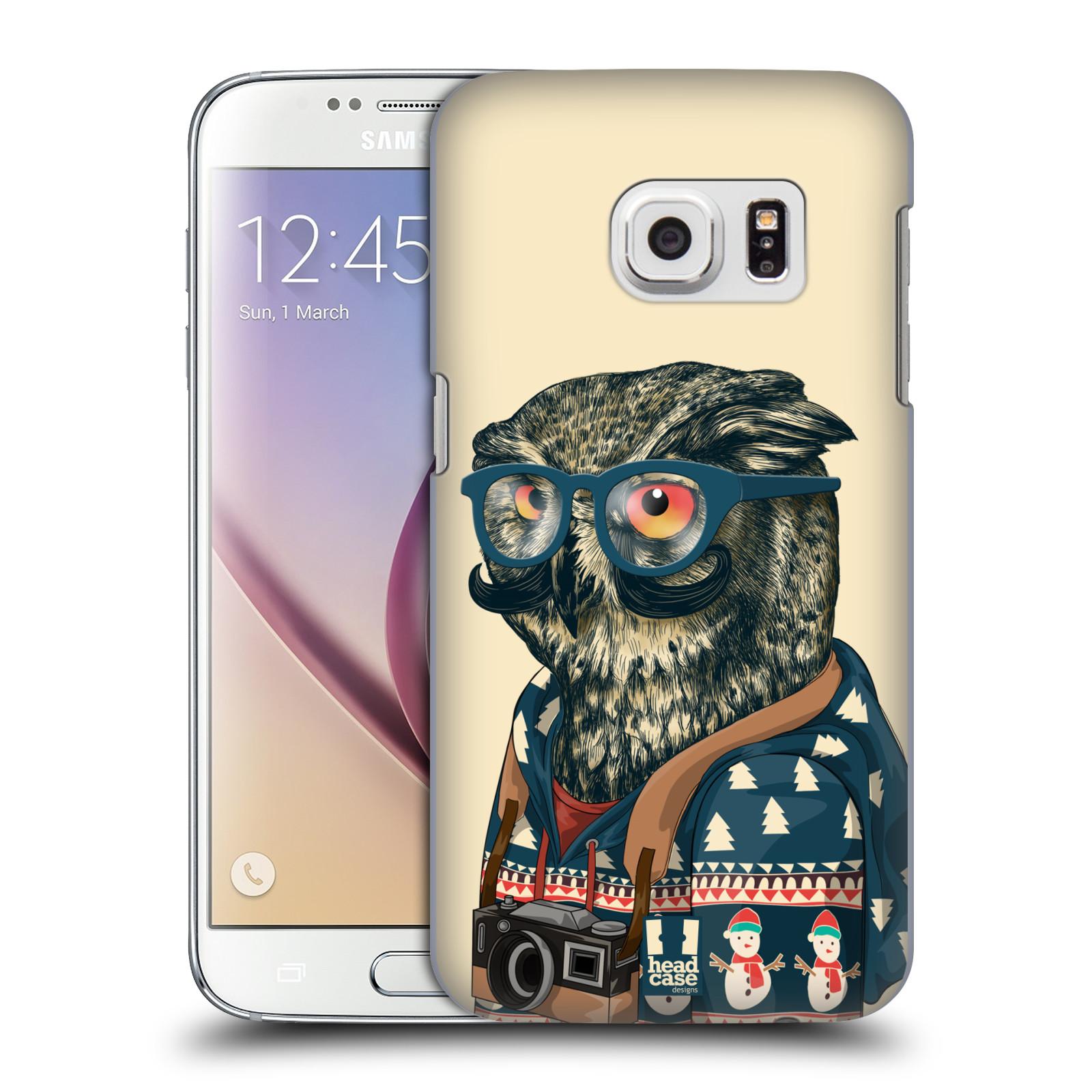 Plastové pouzdro na mobil Samsung Galaxy S7 HEAD CASE HIPSTR SVETR SOVA (Kryt či obal na mobilní telefon Samsung Galaxy S7 SM-G930F)