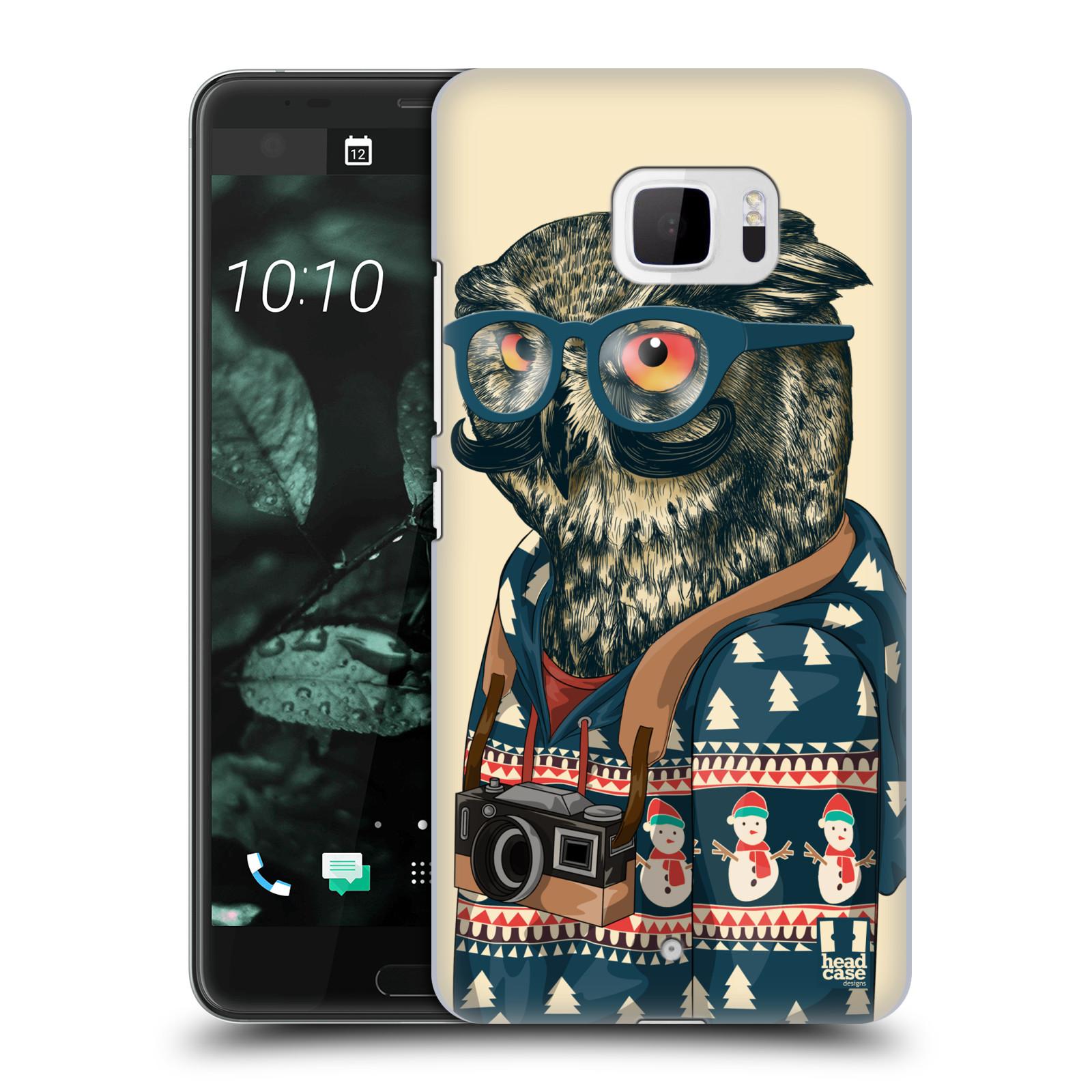 Plastové pouzdro na mobil HTC U Ultra Head Case - HIPSTR SVETR SOVA (Plastový kryt či obal na mobilní telefon HTC U Ultra (99HALT015-00))