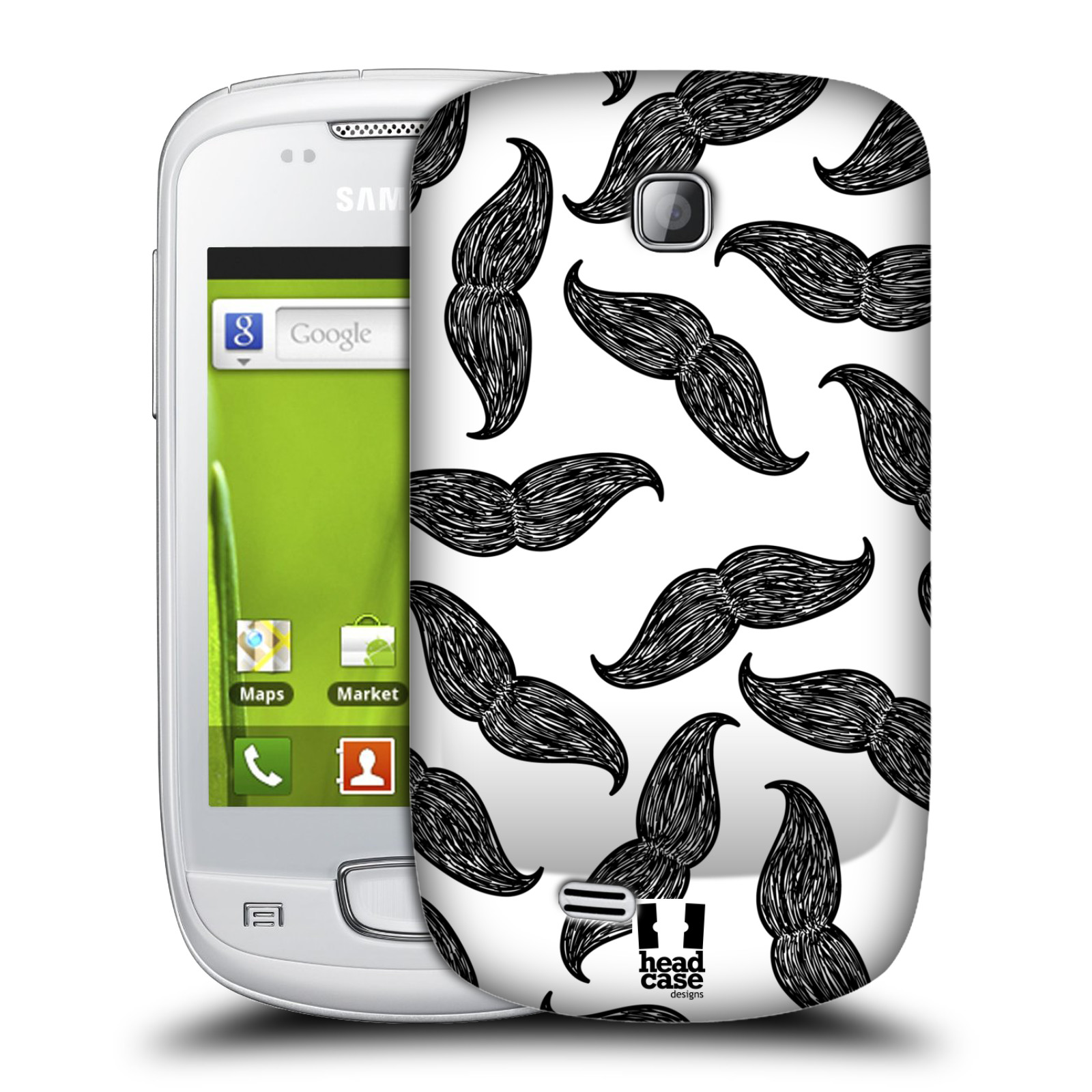 Plastové pouzdro na mobil Samsung Galaxy Mini HEAD CASE HIPSTER KNÍRY (Kryt či obal na mobilní telefon Samsung Galaxy Mini GT-S5570 / GT-S5570i)