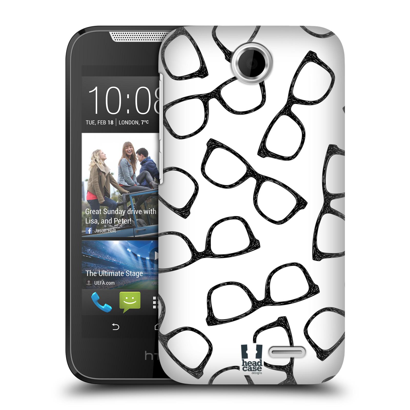 Plastové pouzdro na mobil HTC Desire 310 HEAD CASE HIPSTER BRÝLE (Kryt či obal na mobilní telefon HTC Desire 310)