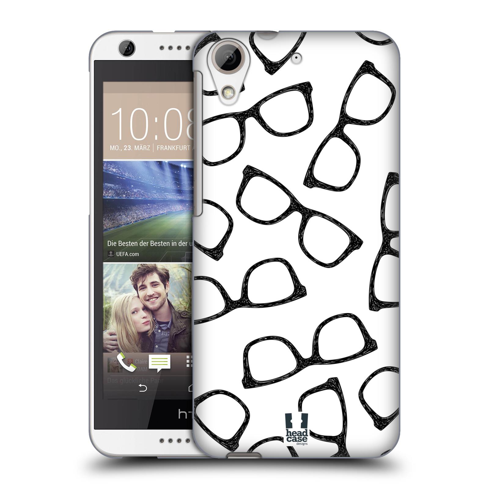 Plastové pouzdro na mobil HTC Desire 626 / 626G HEAD CASE HIPSTER BRÝLE (Kryt či obal na mobilní telefon HTC Desire 626G Dual SIM a HTC Desire 626)