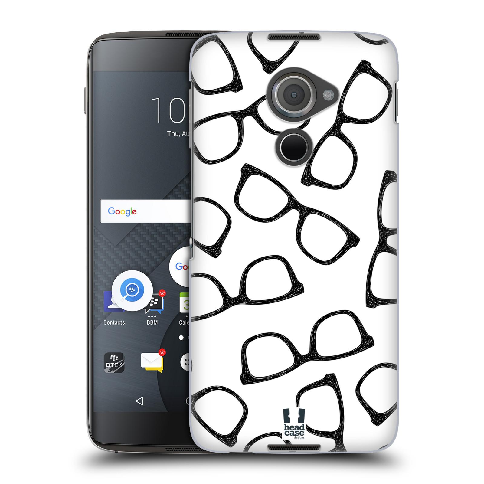 Plastové pouzdro na mobil Blackberry DTEK60 (Argon) - Head Case HIPSTER BRÝLE (Plastový kryt či obal na mobilní telefon Blackberry DTEK60 (Argon))