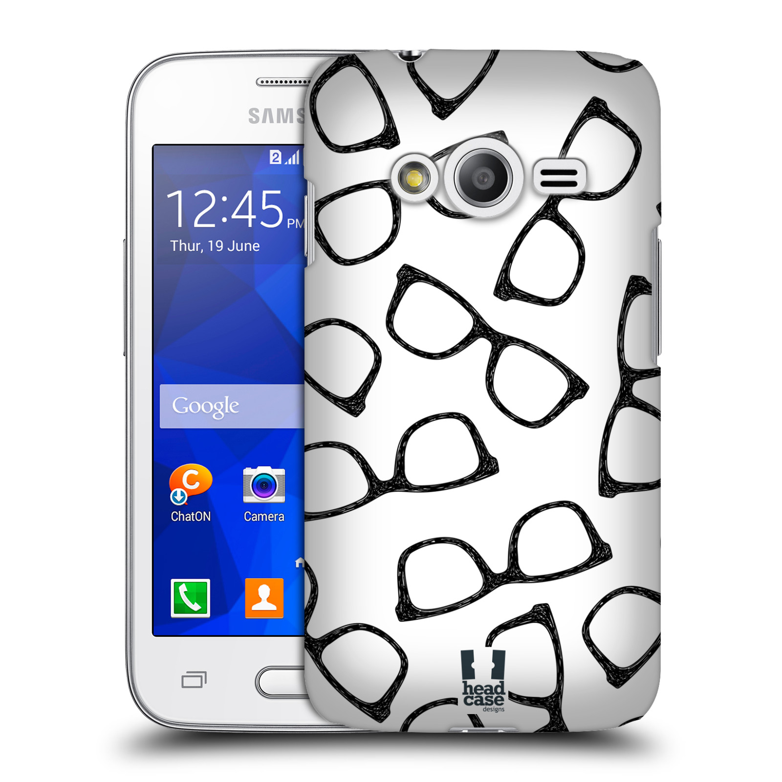 Plastové pouzdro na mobil Samsung Galaxy Trend 2 Lite HEAD CASE HIPSTER BRÝLE (Kryt či obal na mobilní telefon Samsung Galaxy Trend 2 Lite SM-G318)