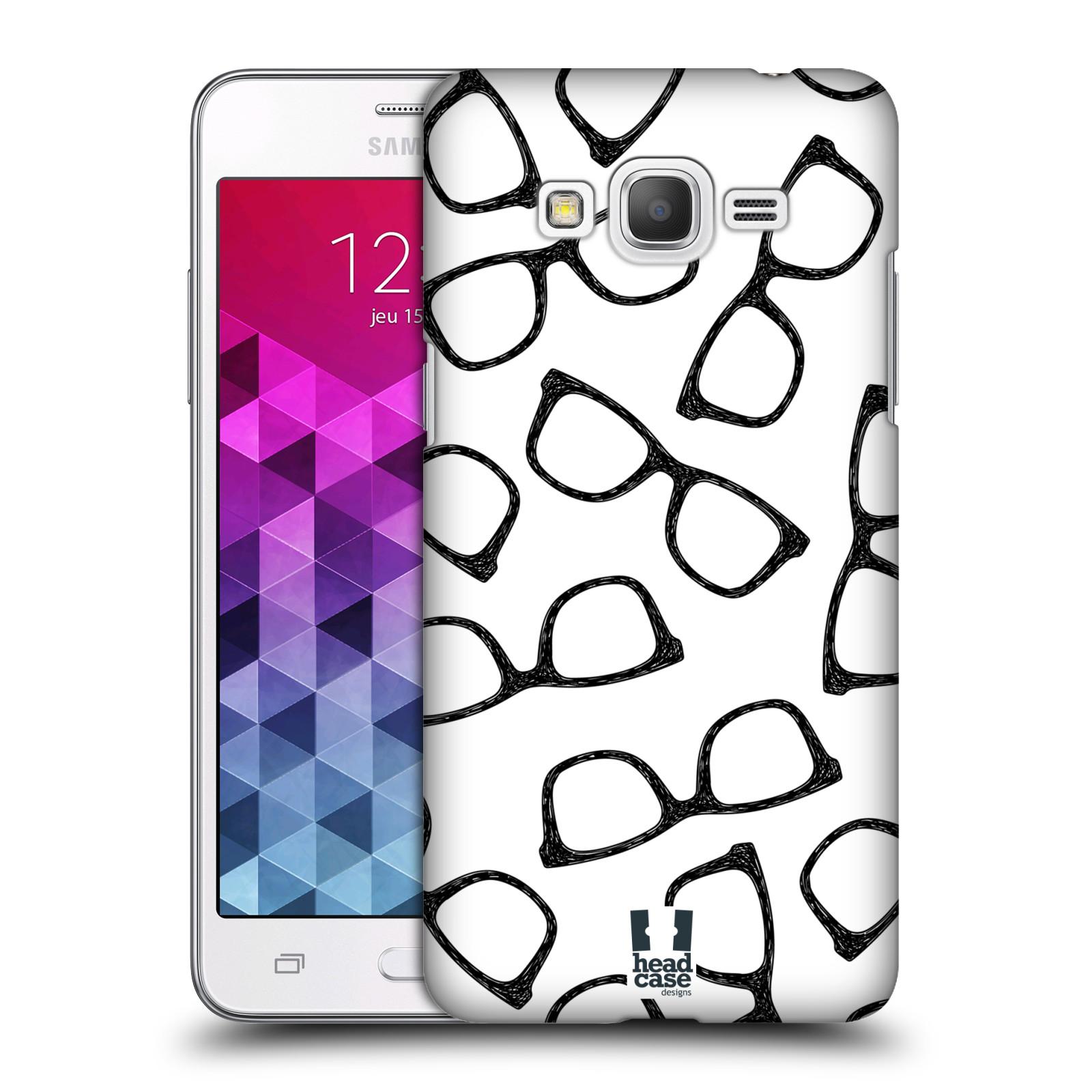 Plastové pouzdro na mobil Samsung Galaxy Grand Prime HEAD CASE HIPSTER BRÝLE (Kryt či obal na mobilní telefon Samsung Galaxy Grand Prime SM-G530)