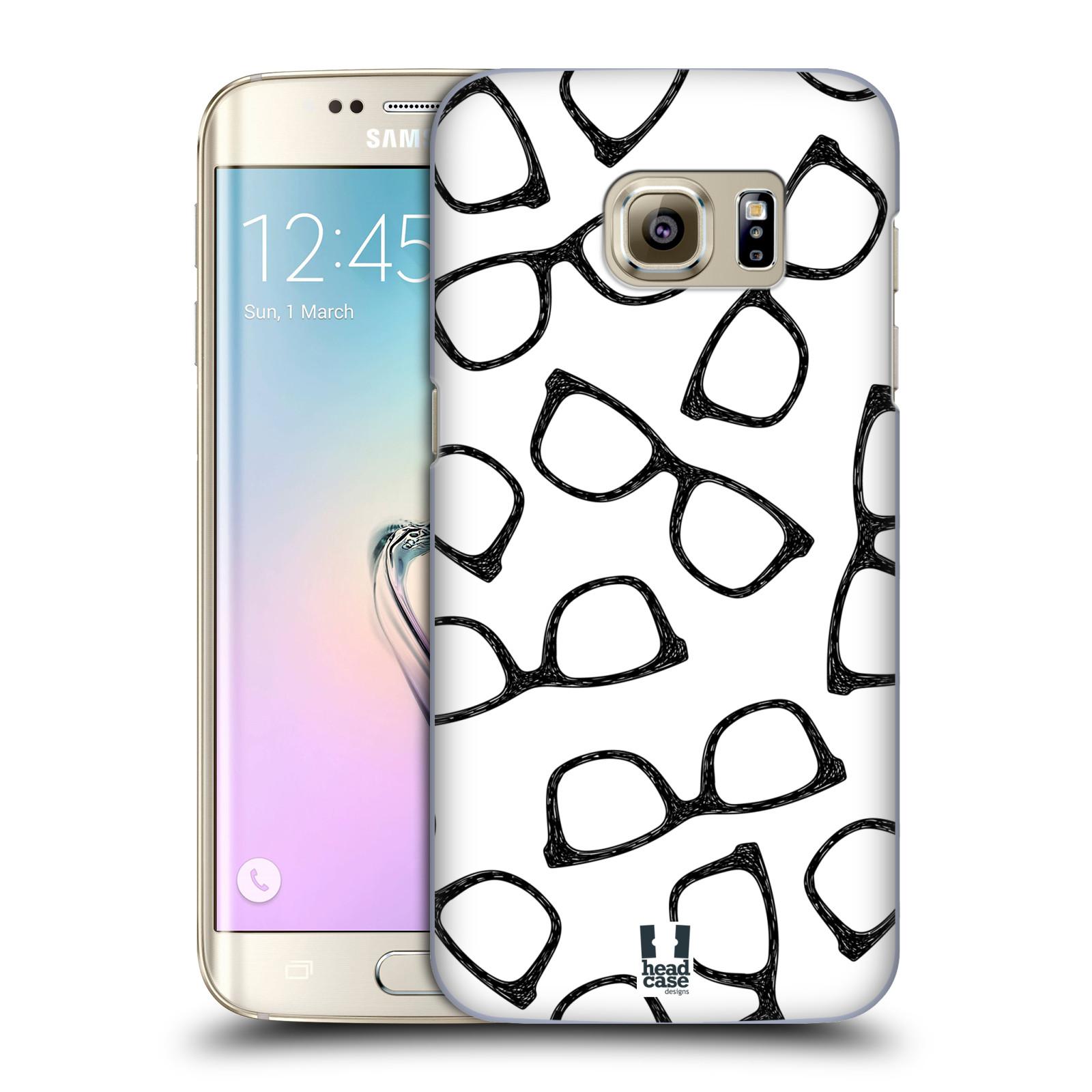 Plastové pouzdro na mobil Samsung Galaxy S7 Edge HEAD CASE HIPSTER BRÝLE (Kryt či obal na mobilní telefon Samsung Galaxy S7 Edge SM-G935F)