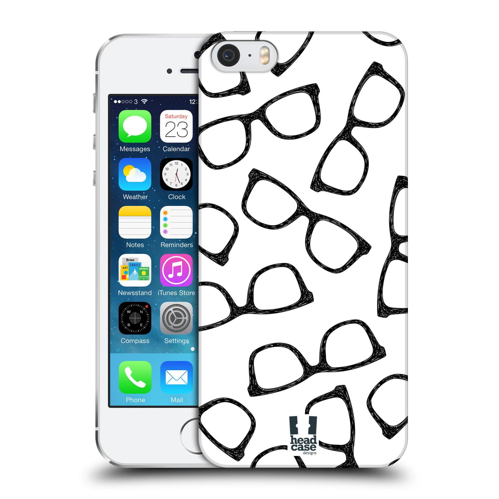 Plastové pouzdro na mobil Apple iPhone SE, 5 a 5S HEAD CASE HIPSTER BRÝLE