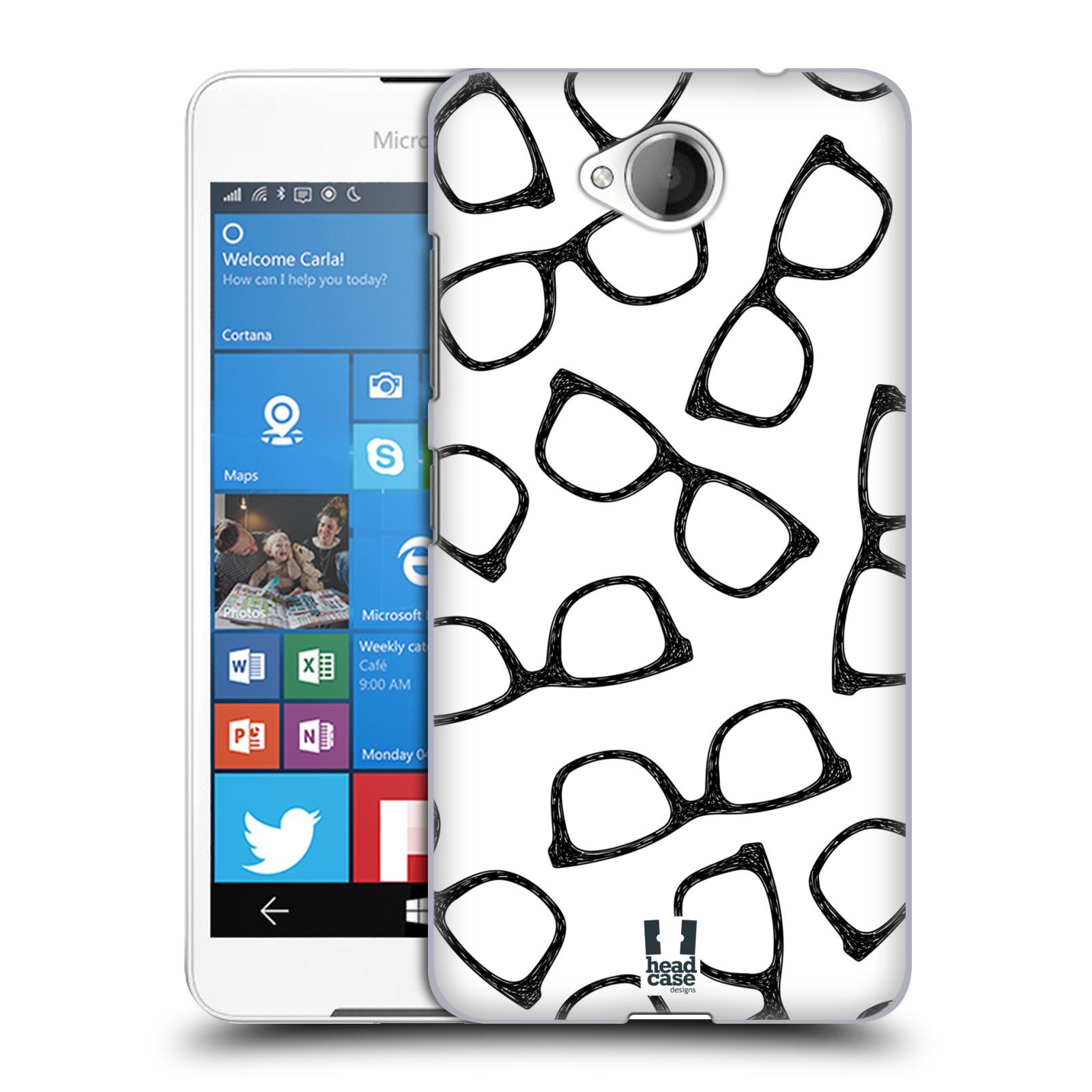 Plastové pouzdro na mobil Microsoft Lumia 650 HEAD CASE HIPSTER BRÝLE (Kryt či obal na mobilní telefon Microsoft Lumia 650)