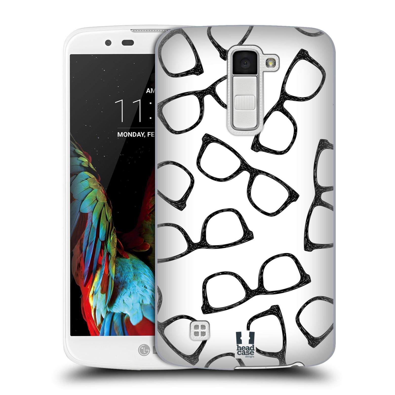 Plastové pouzdro na mobil LG K10 HEAD CASE HIPSTER BRÝLE (Kryt či obal na mobilní telefon LG K10)