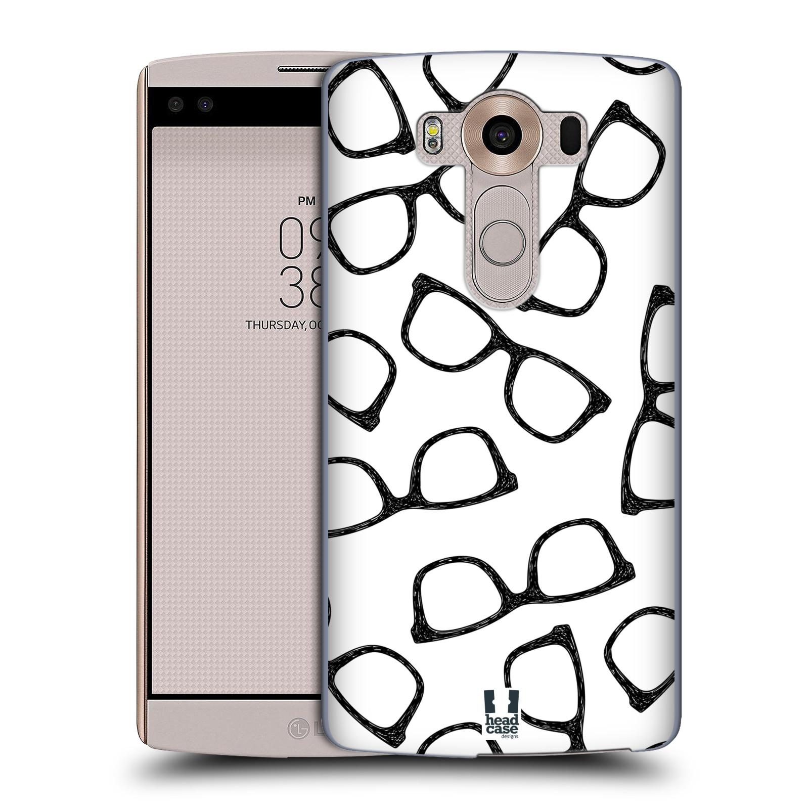 Plastové pouzdro na mobil LG V10 HEAD CASE HIPSTER BRÝLE (Kryt či obal na mobilní telefon LG V10 H960 / H960A)