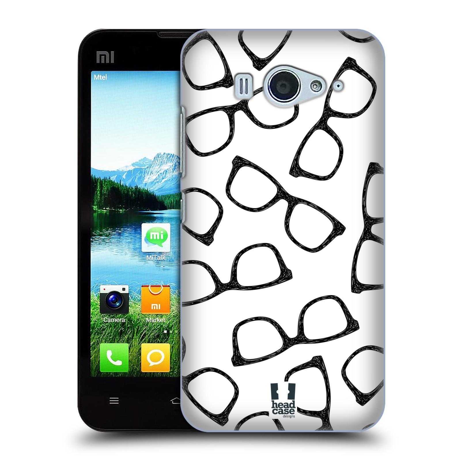 Plastové pouzdro na mobil Xiaomi Mi2S HEAD CASE HIPSTER BRÝLE (Kryt či obal na mobilní telefon Xiaomi Mi2S)