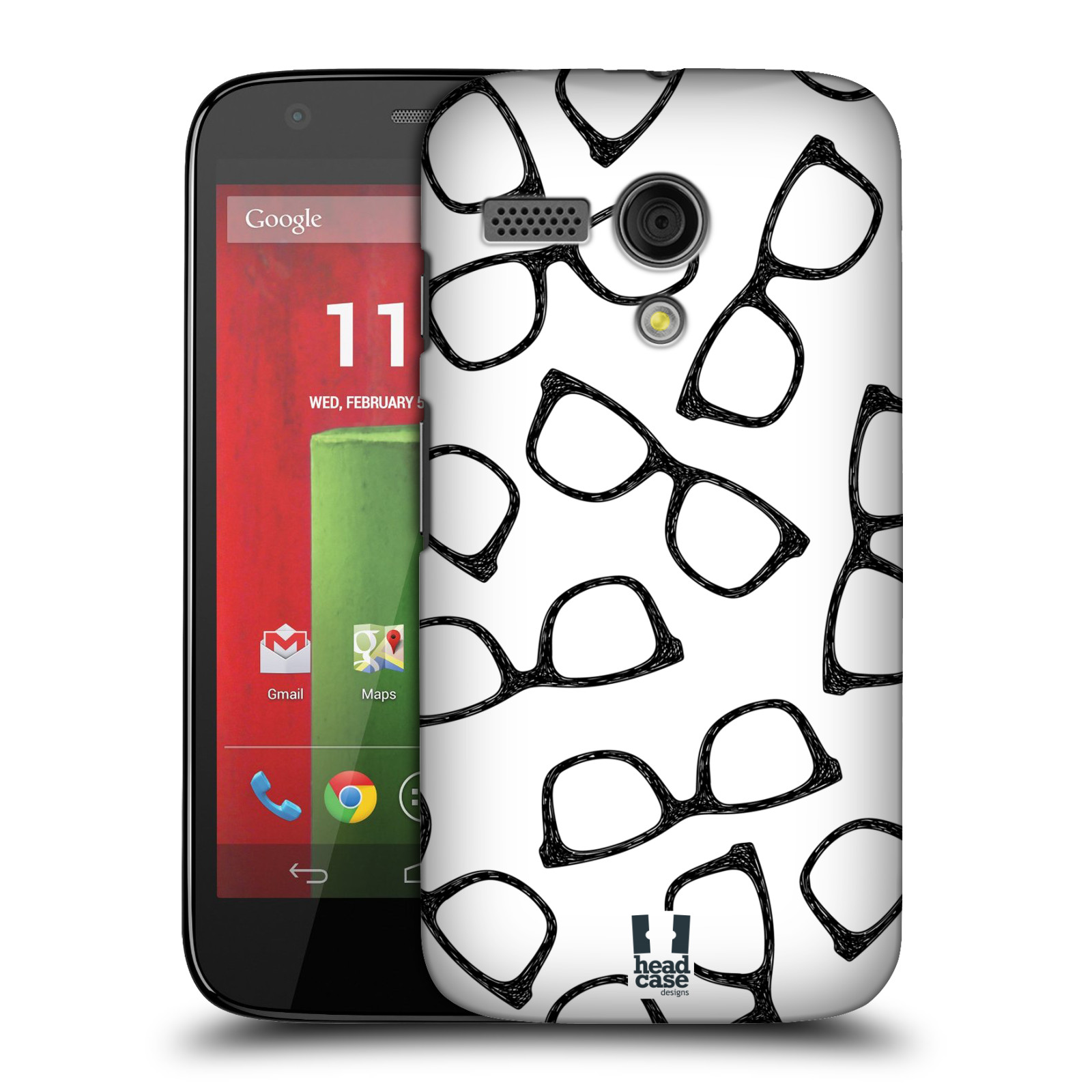 Plastové pouzdro na mobil Motorola Moto G HEAD CASE HIPSTER BRÝLE (Kryt či obal na mobilní telefon Motorola Moto G)