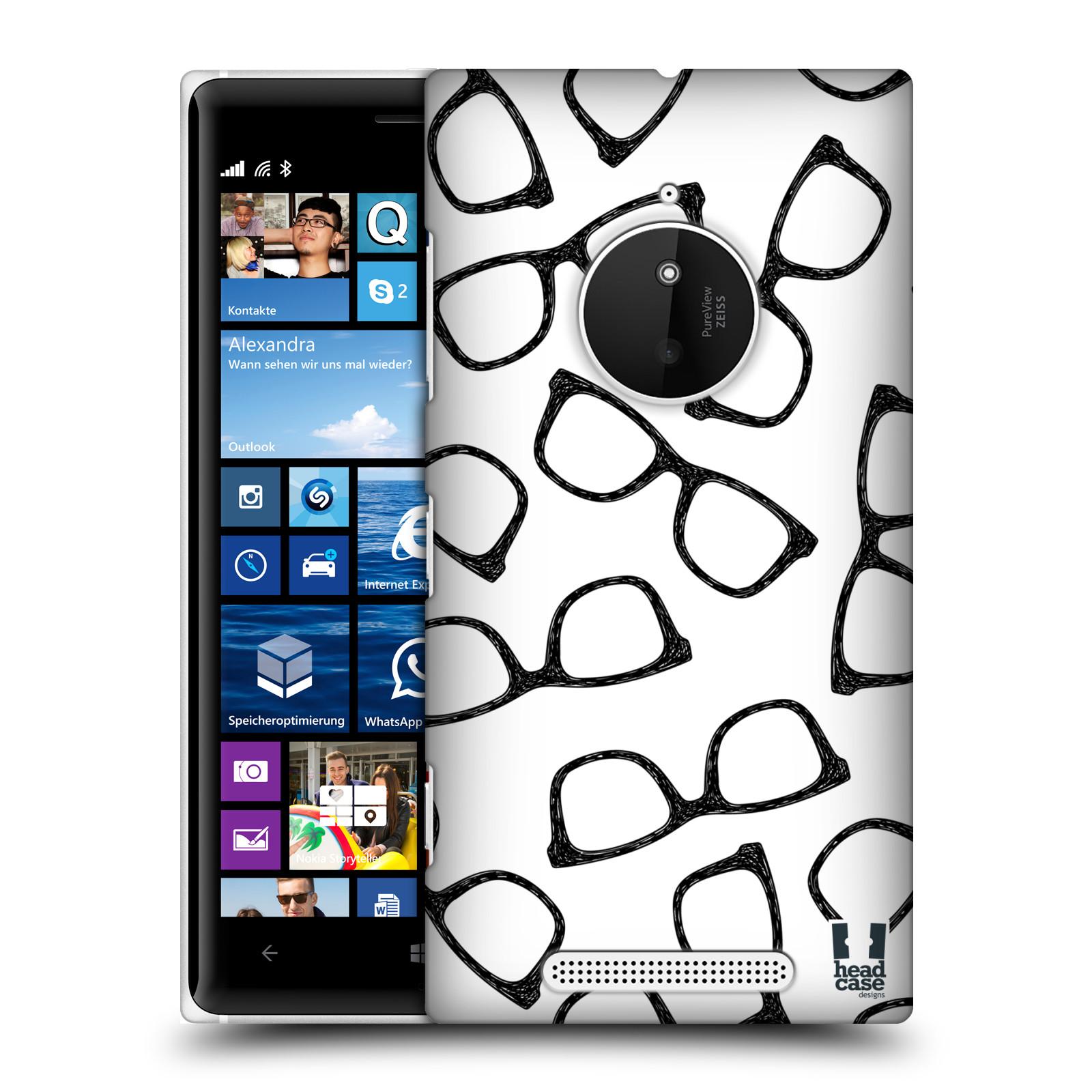 Plastové pouzdro na mobil Nokia Lumia 830 HEAD CASE HIPSTER BRÝLE (Kryt či obal na mobilní telefon Nokia Lumia 830)
