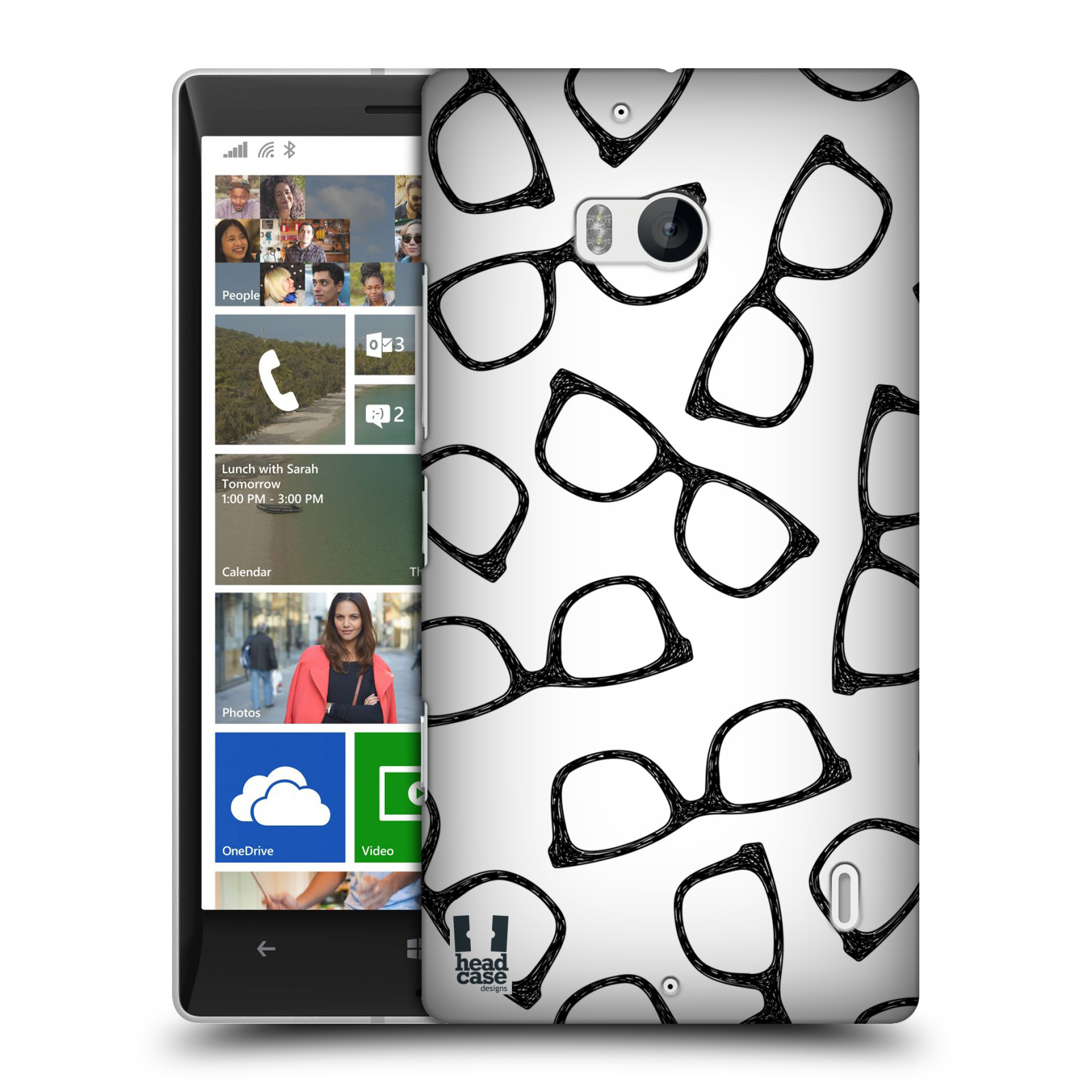Plastové pouzdro na mobil Nokia Lumia 930 HEAD CASE HIPSTER BRÝLE (Kryt či obal na mobilní telefon Nokia Lumia 930)