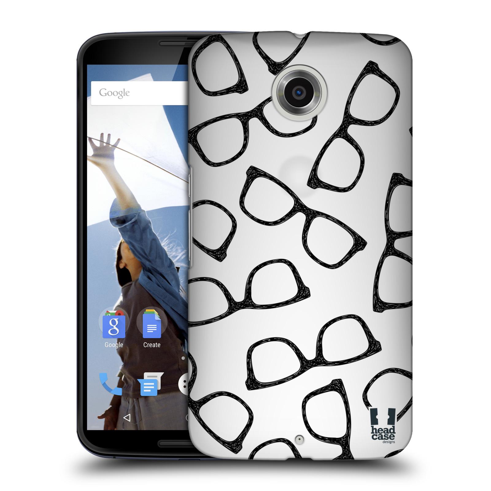 Plastové pouzdro na mobil Motorola Nexus 6 HEAD CASE HIPSTER BRÝLE (Kryt či obal na mobilní telefon Motorola Nexus 6)