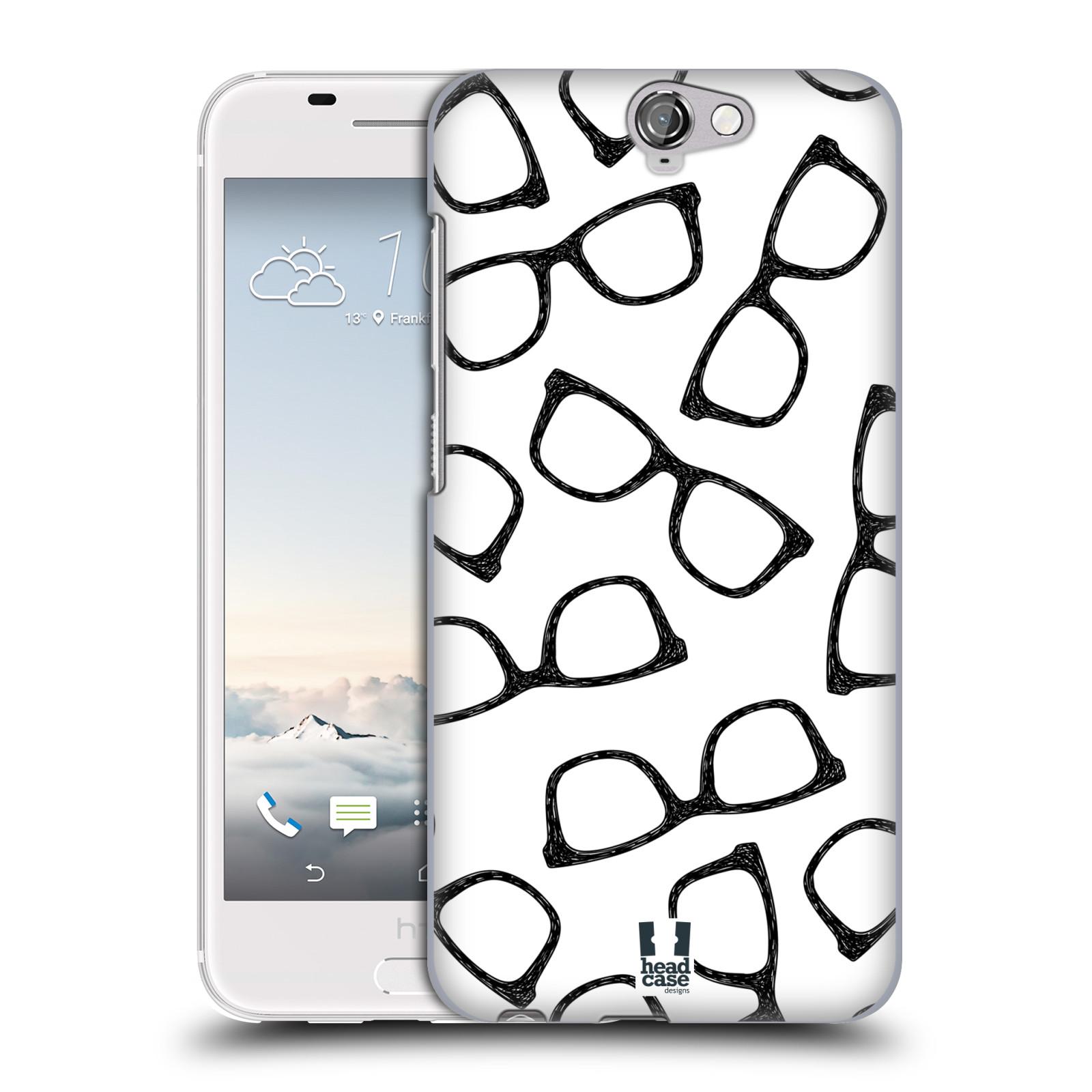 Plastové pouzdro na mobil HTC One A9 HEAD CASE HIPSTER BRÝLE (Kryt či obal na mobilní telefon HTC One A9)