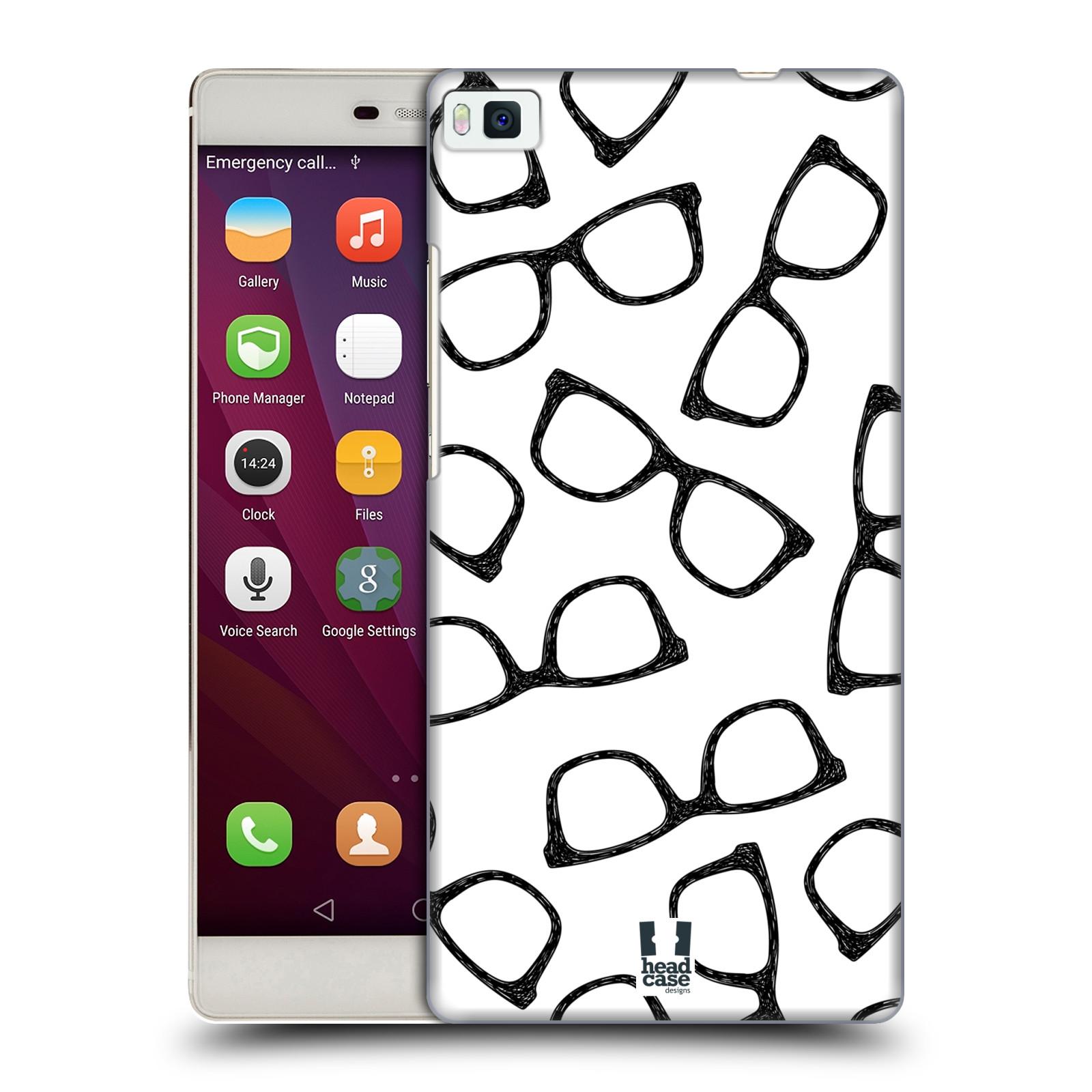 Plastové pouzdro na mobil Huawei P8 HEAD CASE HIPSTER BRÝLE (Kryt či obal na mobilní telefon Huawei Ascend P8)