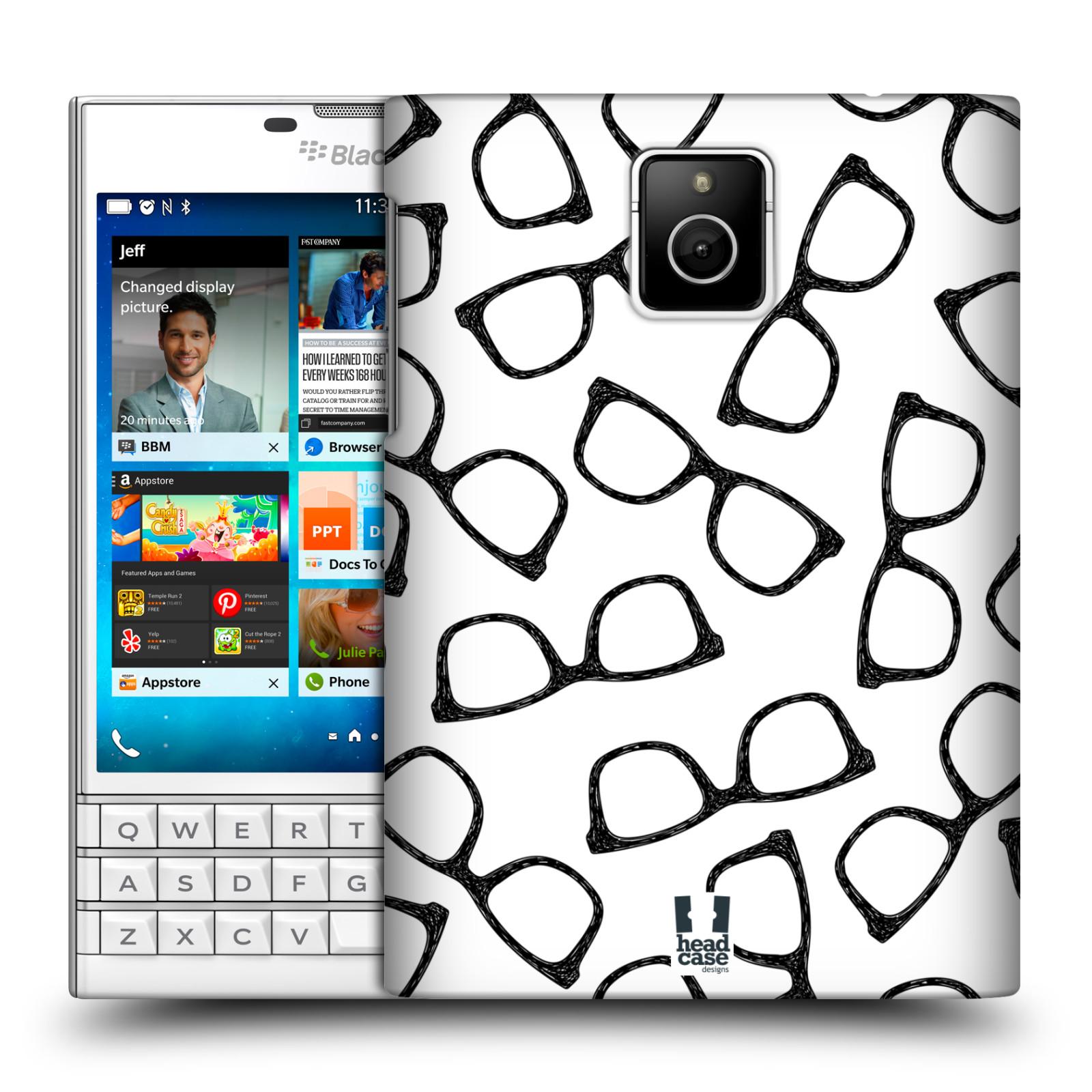 Plastové pouzdro na mobil Blackberry PASSPORT HEAD CASE HIPSTER BRÝLE (Kryt či obal na mobilní telefon Blackberry PASSPORT)